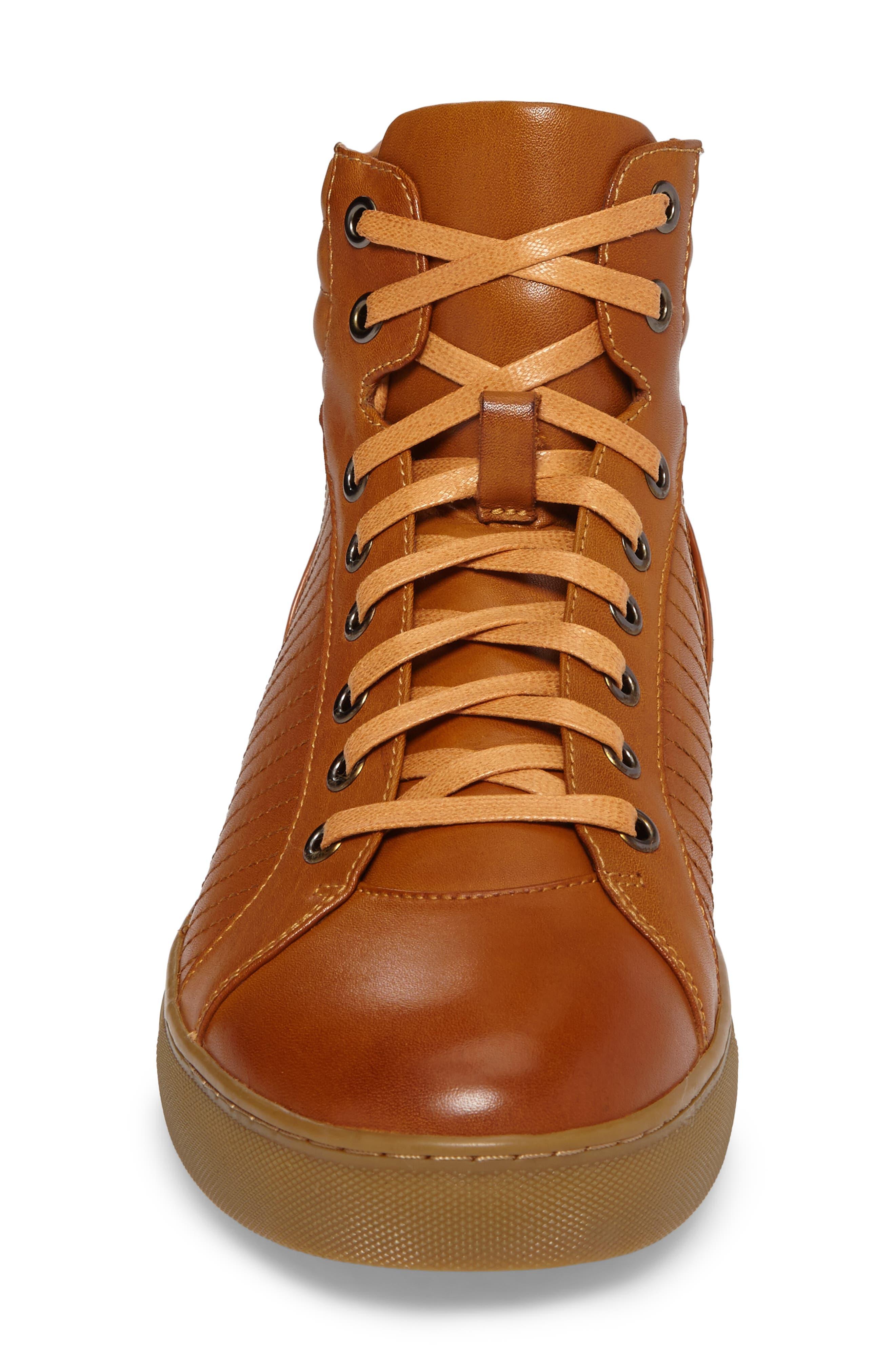 Youse Sneaker,                             Alternate thumbnail 4, color,                             Cognac Leather