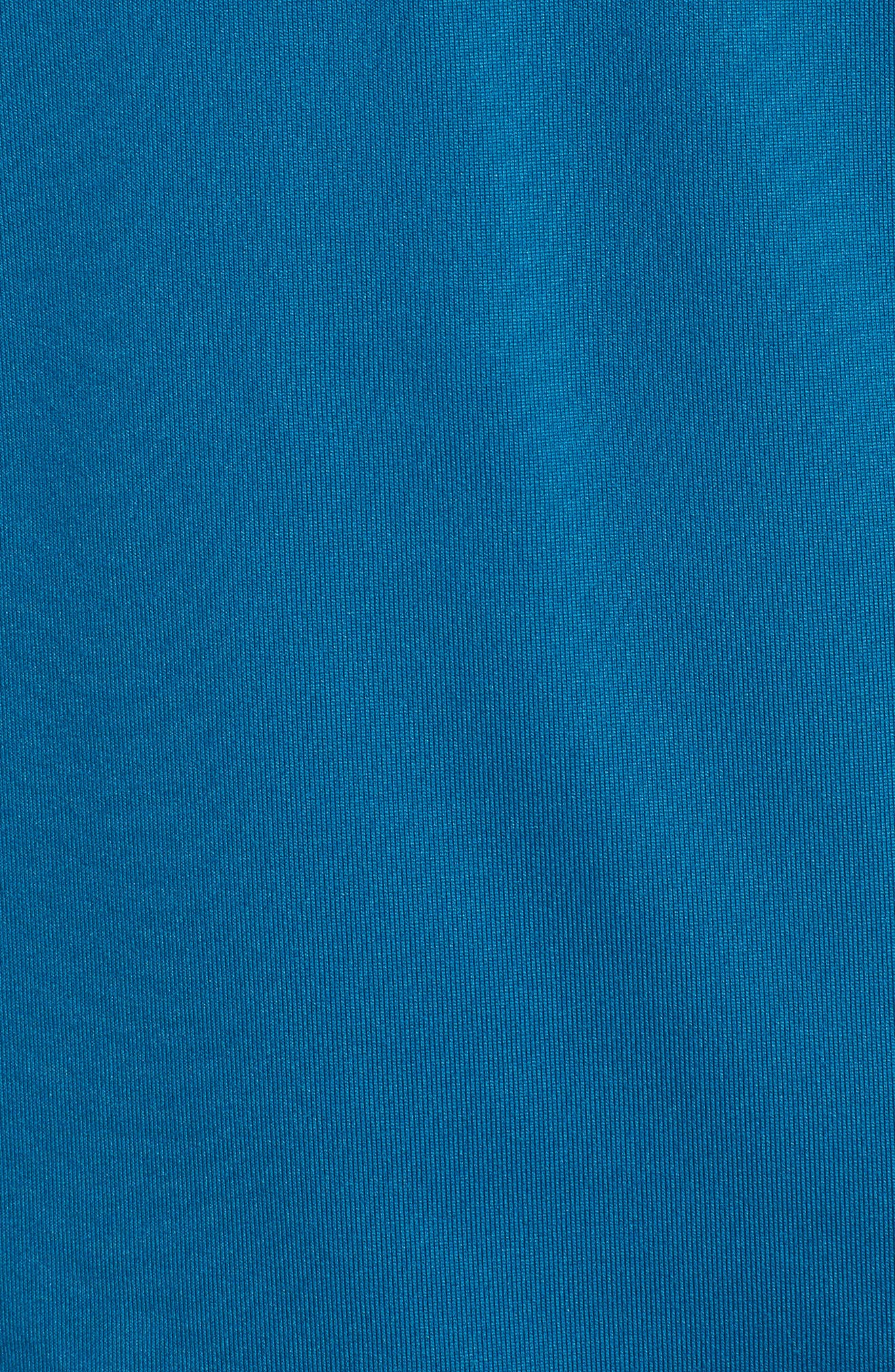 Threadborne Quarter Zip Performance T-Shirt,                             Alternate thumbnail 5, color,                             Bayou Blue / Reflective