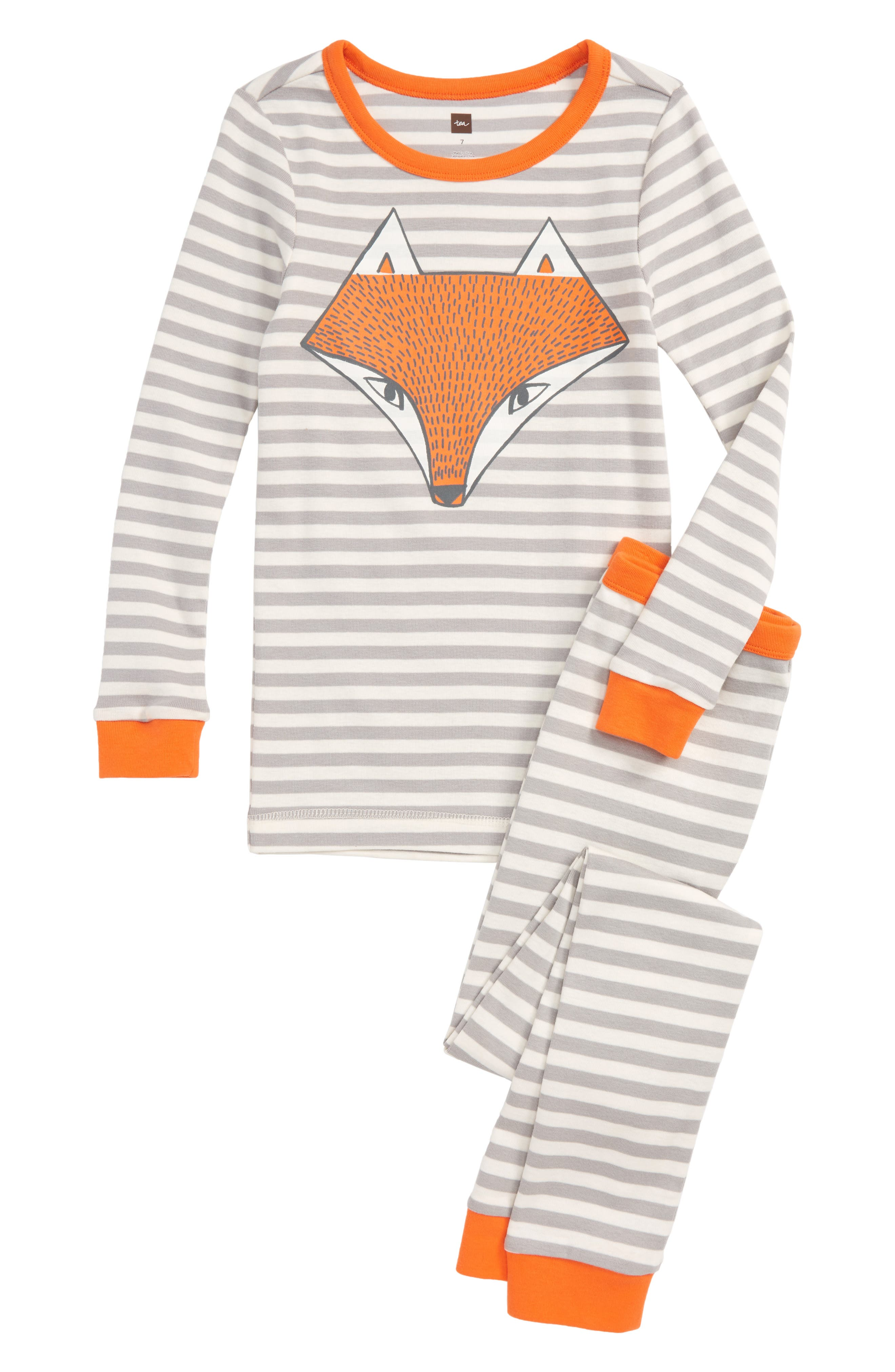 Tod Fitted Two-Piece Pajamas,                         Main,                         color, Storm Grey