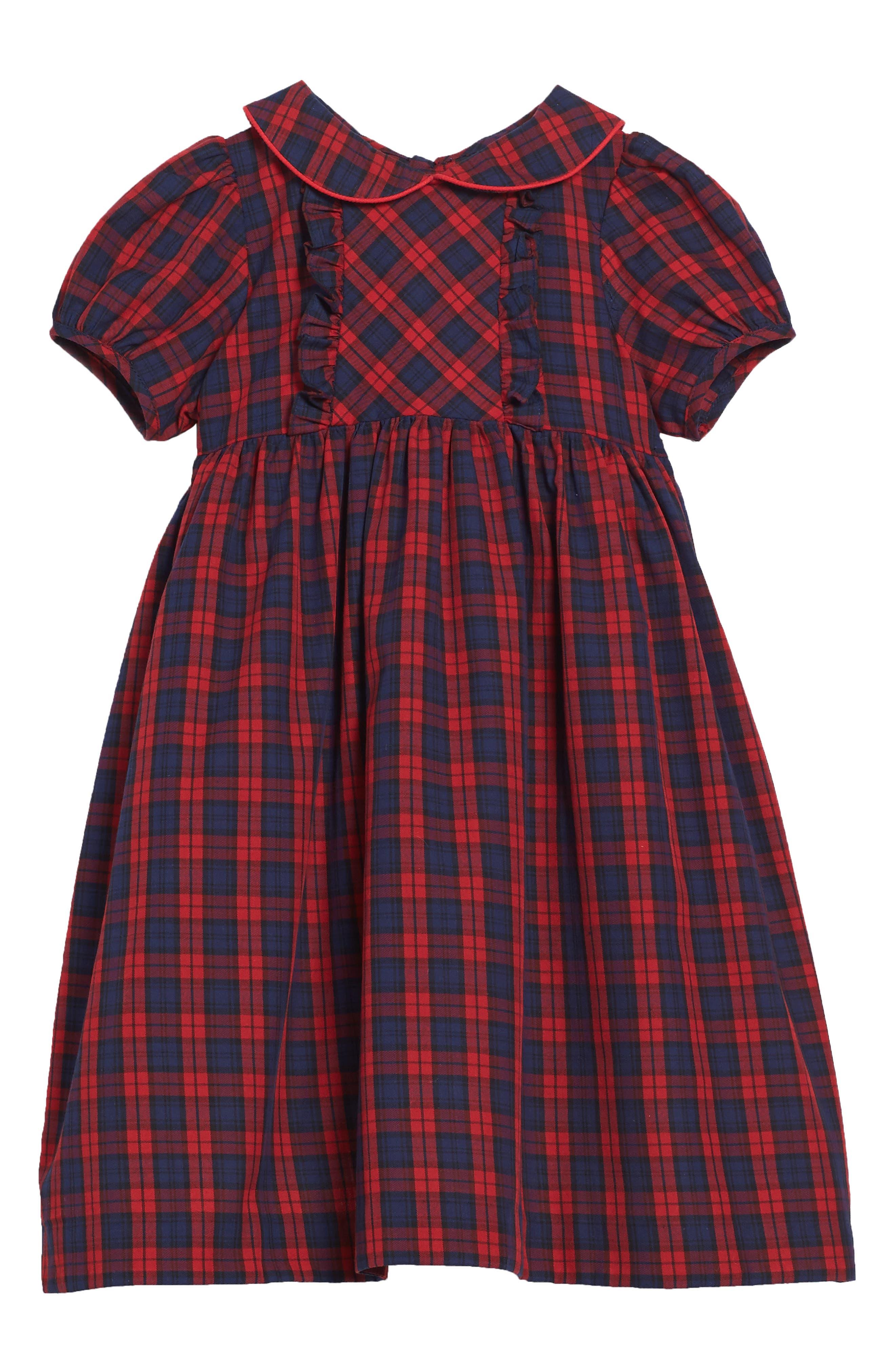 Luli & Me Plaid Dress (Toddler Girls)