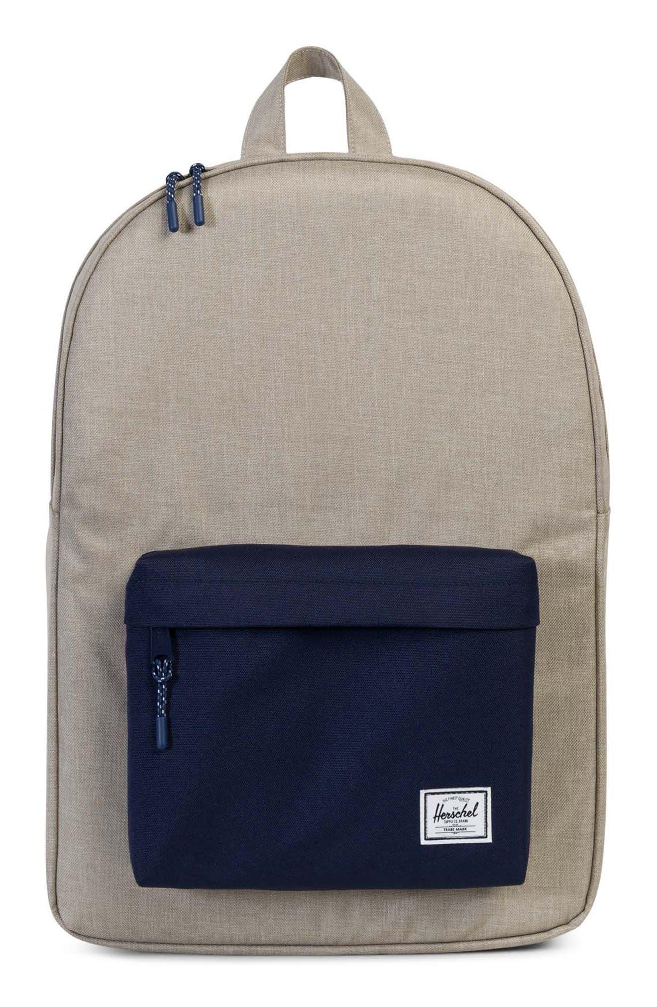Classic Backpack,                             Main thumbnail 1, color,                             Light Khaki Crosshatch