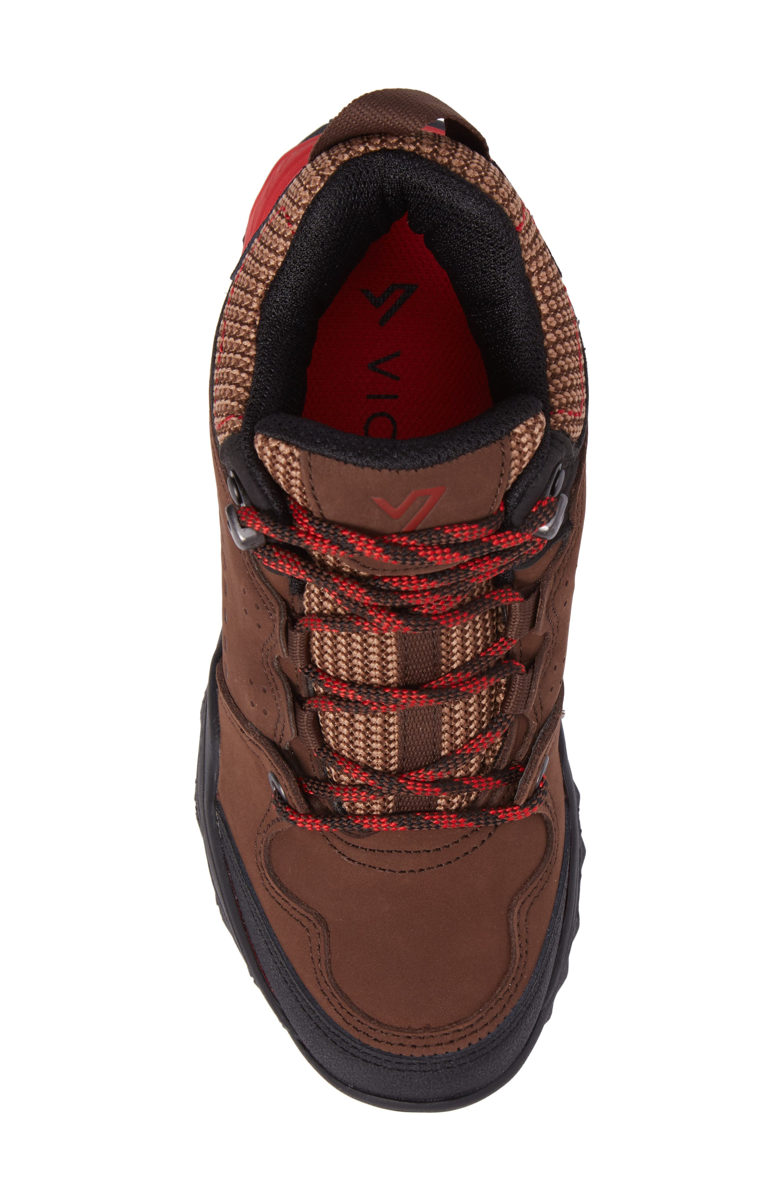 Everett Hiking Shoe,                             Alternate thumbnail 5, color,                             Brown / Red Leather