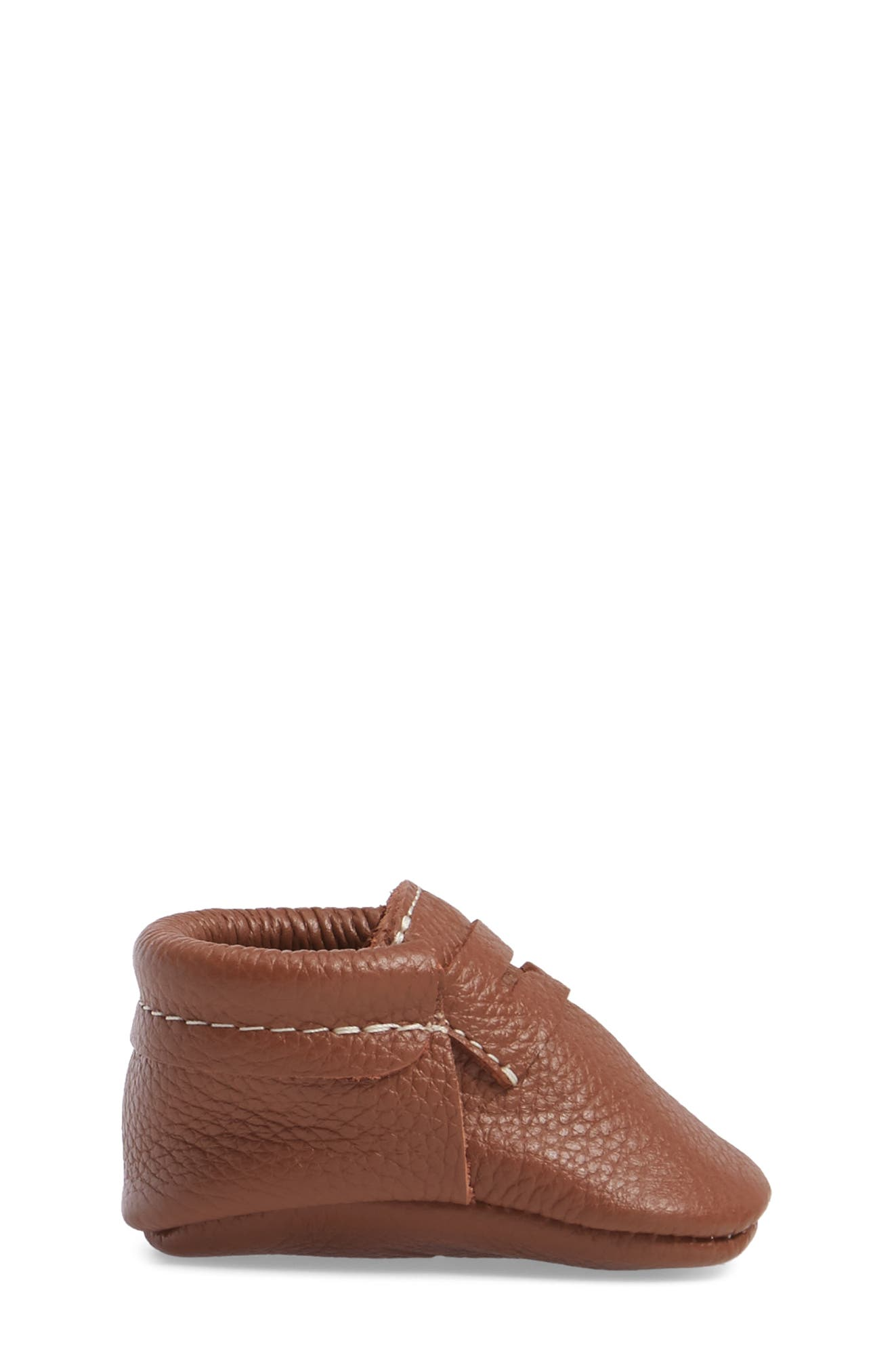Penny Loafer Crib Shoe,                             Alternate thumbnail 3, color,                             Cognac