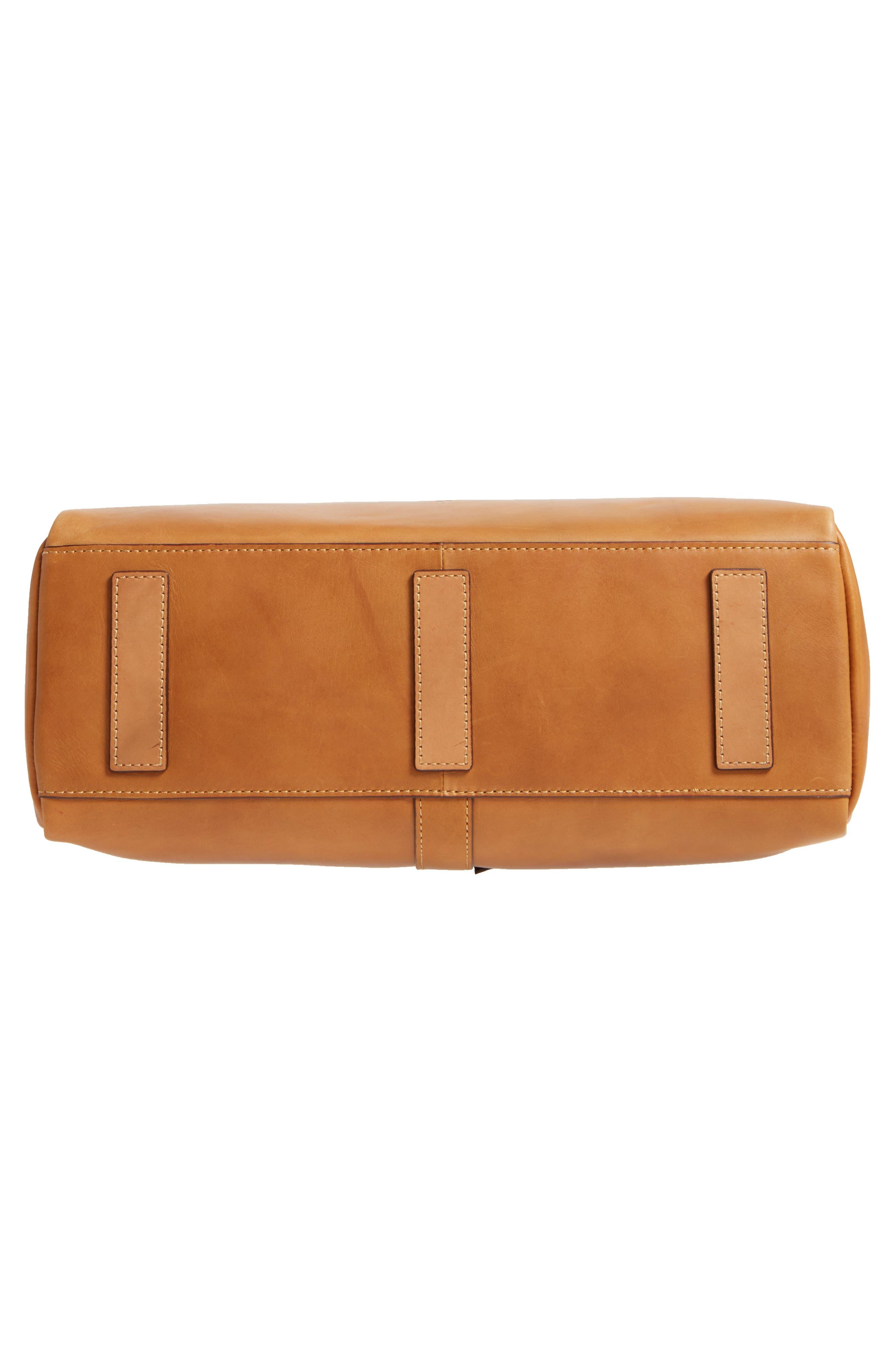 Ilana Harness Leather Shopper,                             Alternate thumbnail 6, color,                             Cognac
