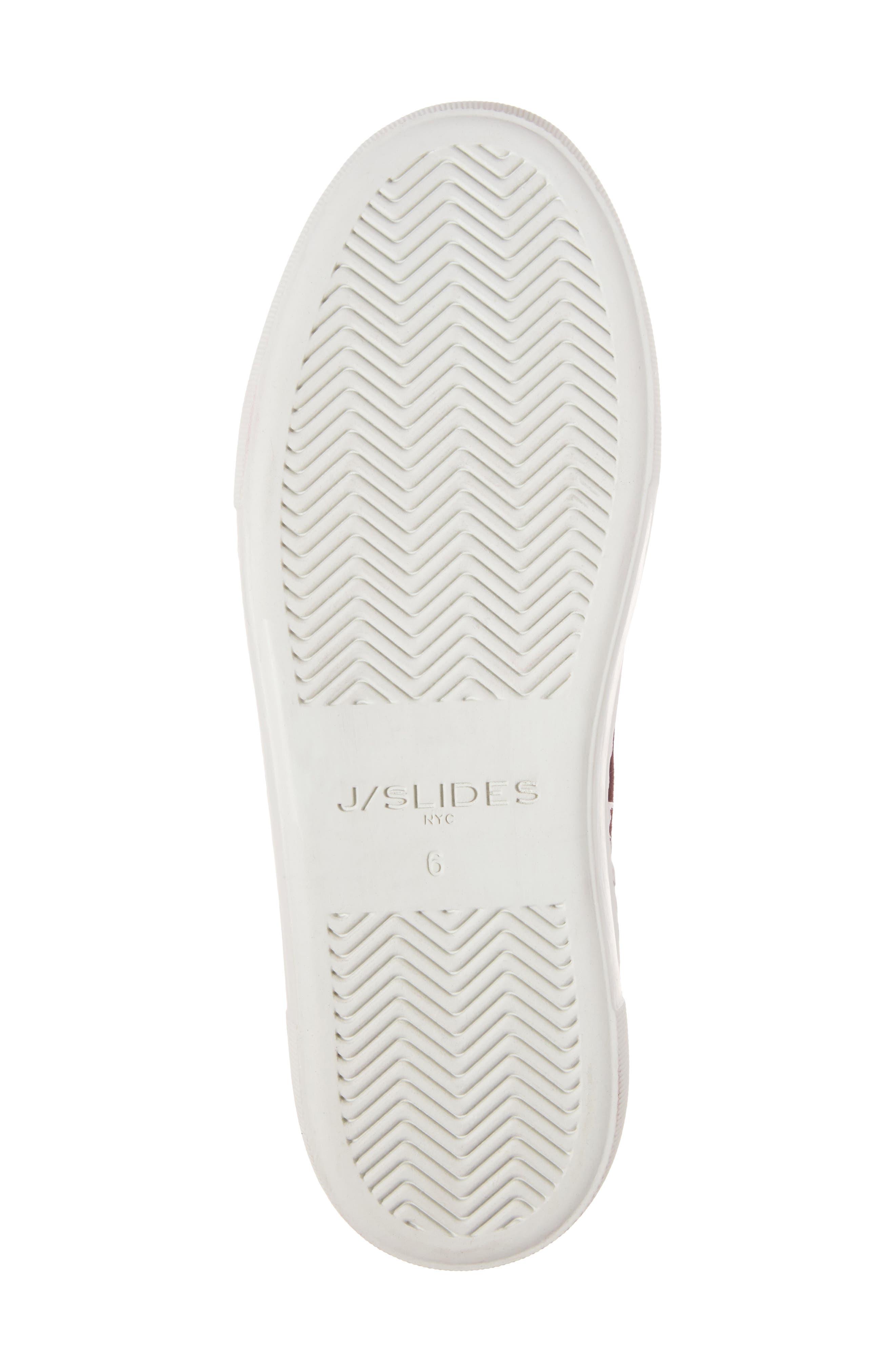 Alexi Faux Fur Slip-On Sneaker,                             Alternate thumbnail 6, color,                             Burgundy Suede