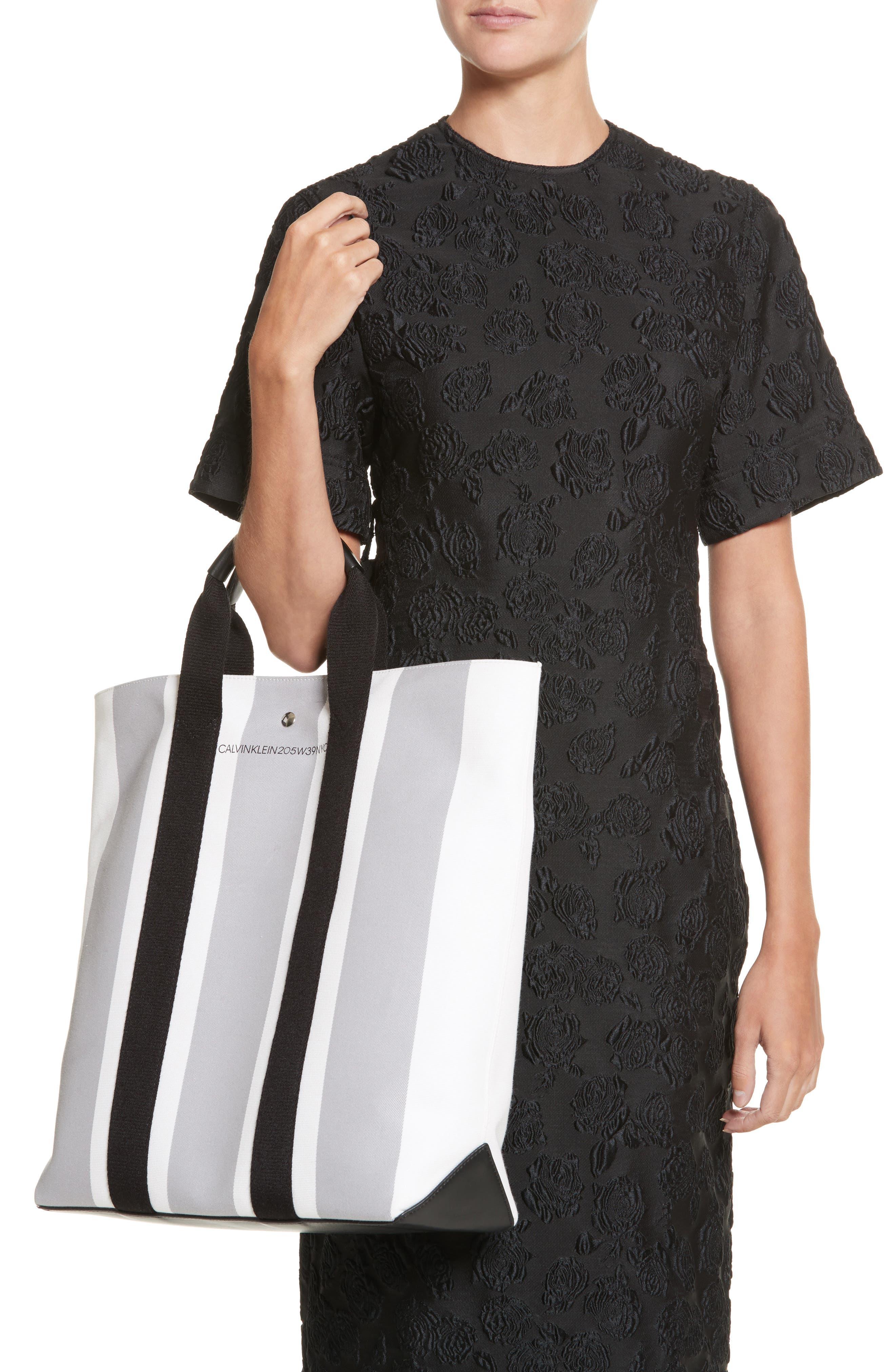 Alternate Image 2  - Calvin Klein 205W39NYC Stripe Canvas Tote