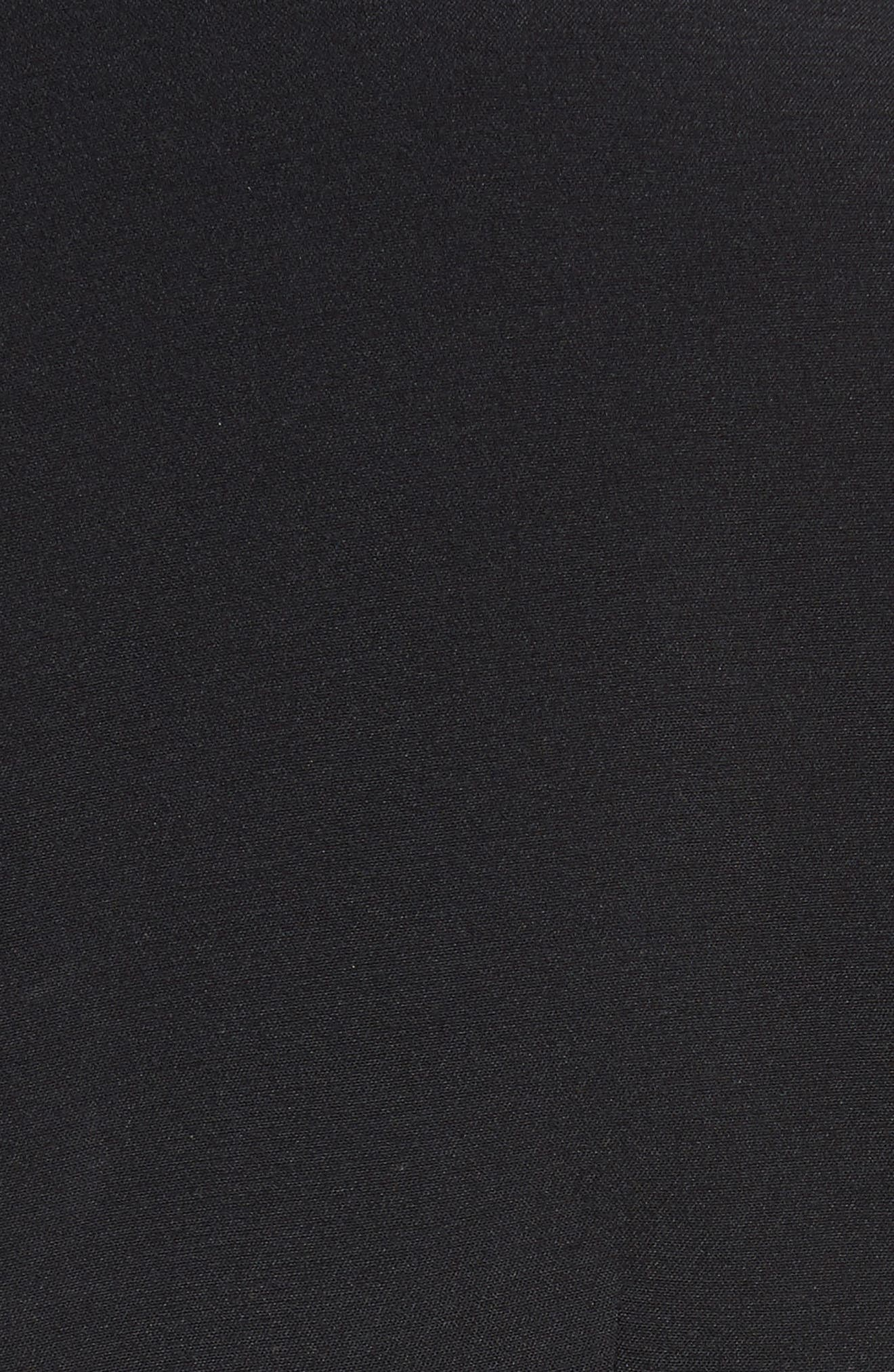 Prila Flare Sleeve Crepe Top,                             Alternate thumbnail 6, color,                             Black/ Blossom
