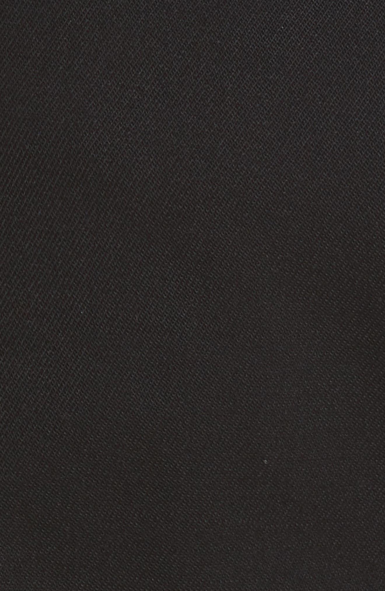 Side Zip Detail Suiting Pants,                             Alternate thumbnail 5, color,                             Black