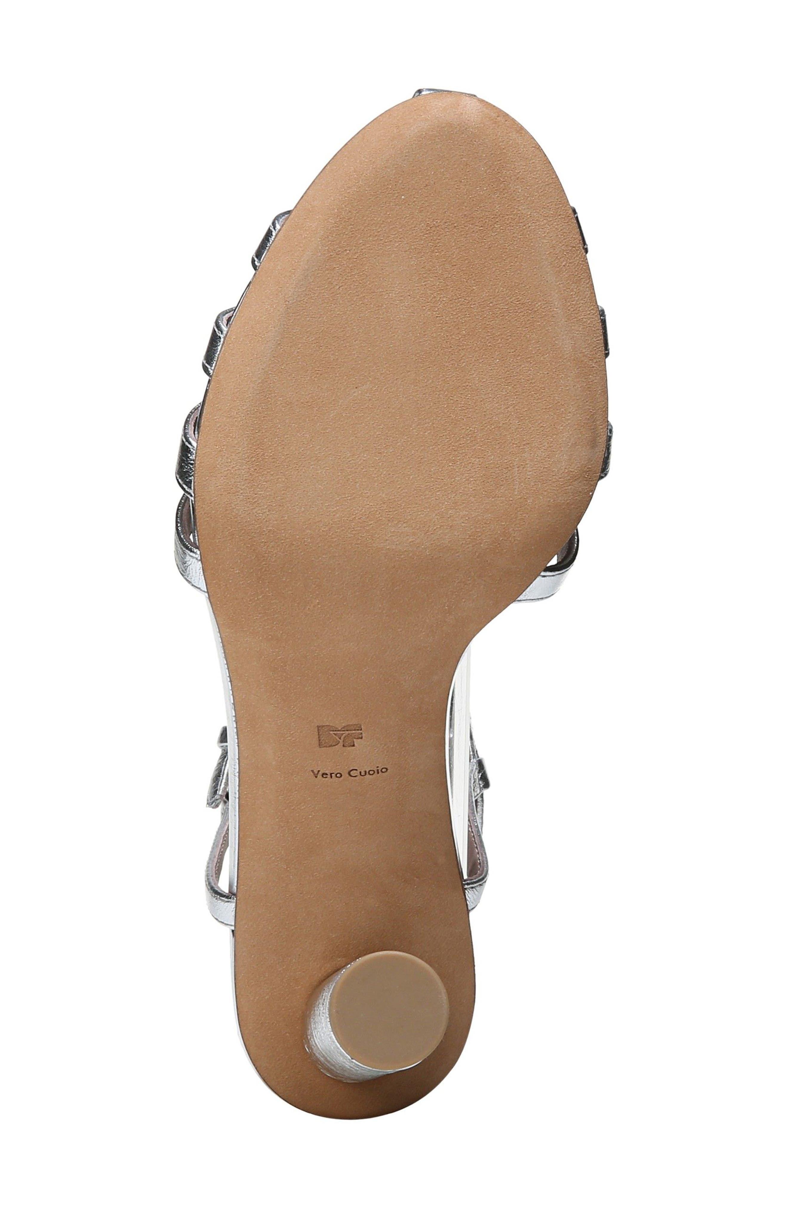 Eva T-Strap Sandal,                             Alternate thumbnail 6, color,                             Metallic Silver