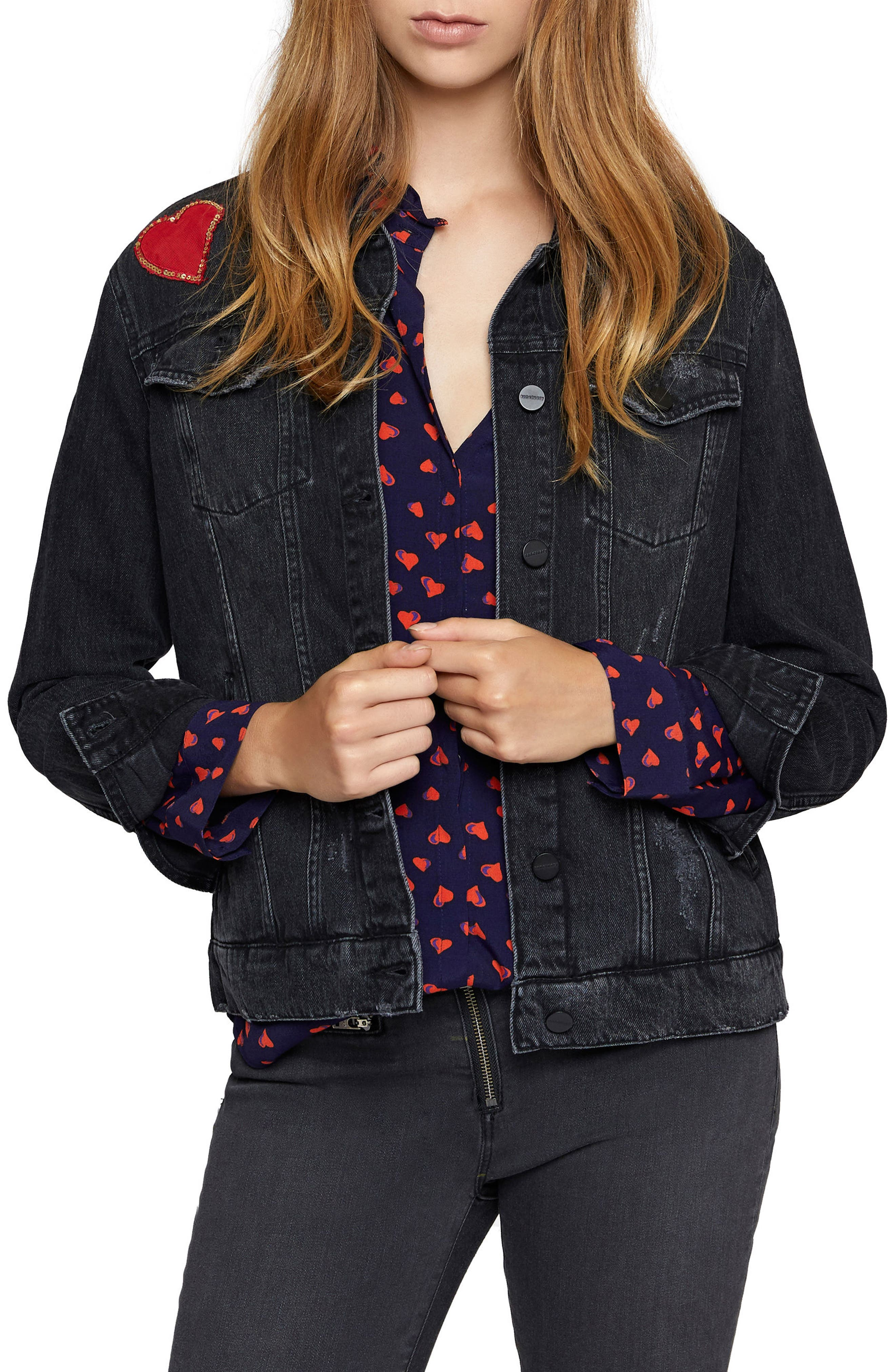 Heartbreaker Denim Jacket,                             Main thumbnail 1, color,                             Danielle Wash