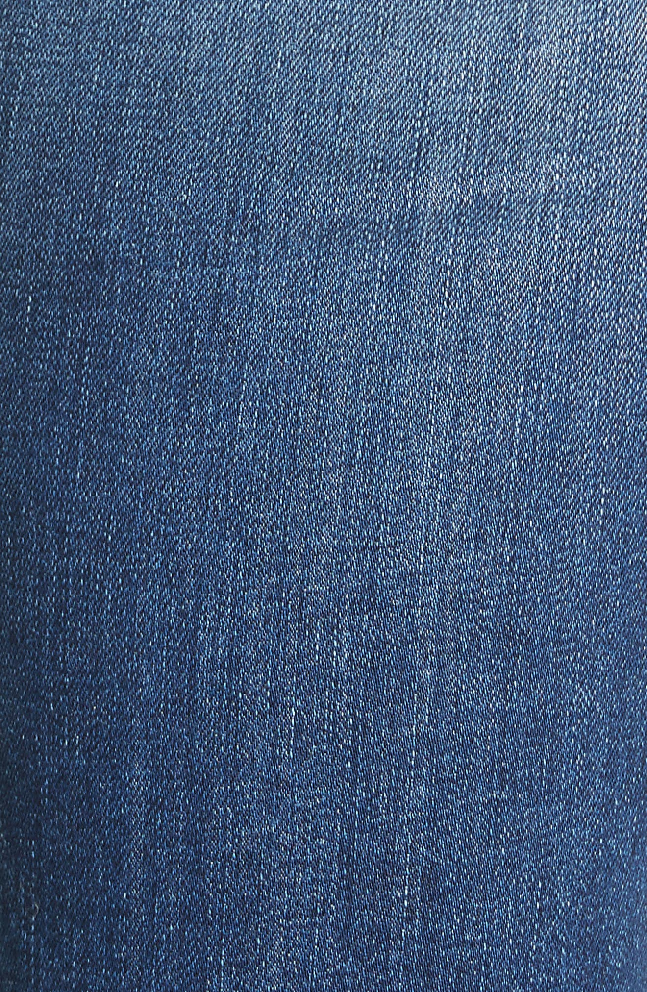 Ripped High Waist Skinny Jeans,                             Alternate thumbnail 5, color,                             Bonnie