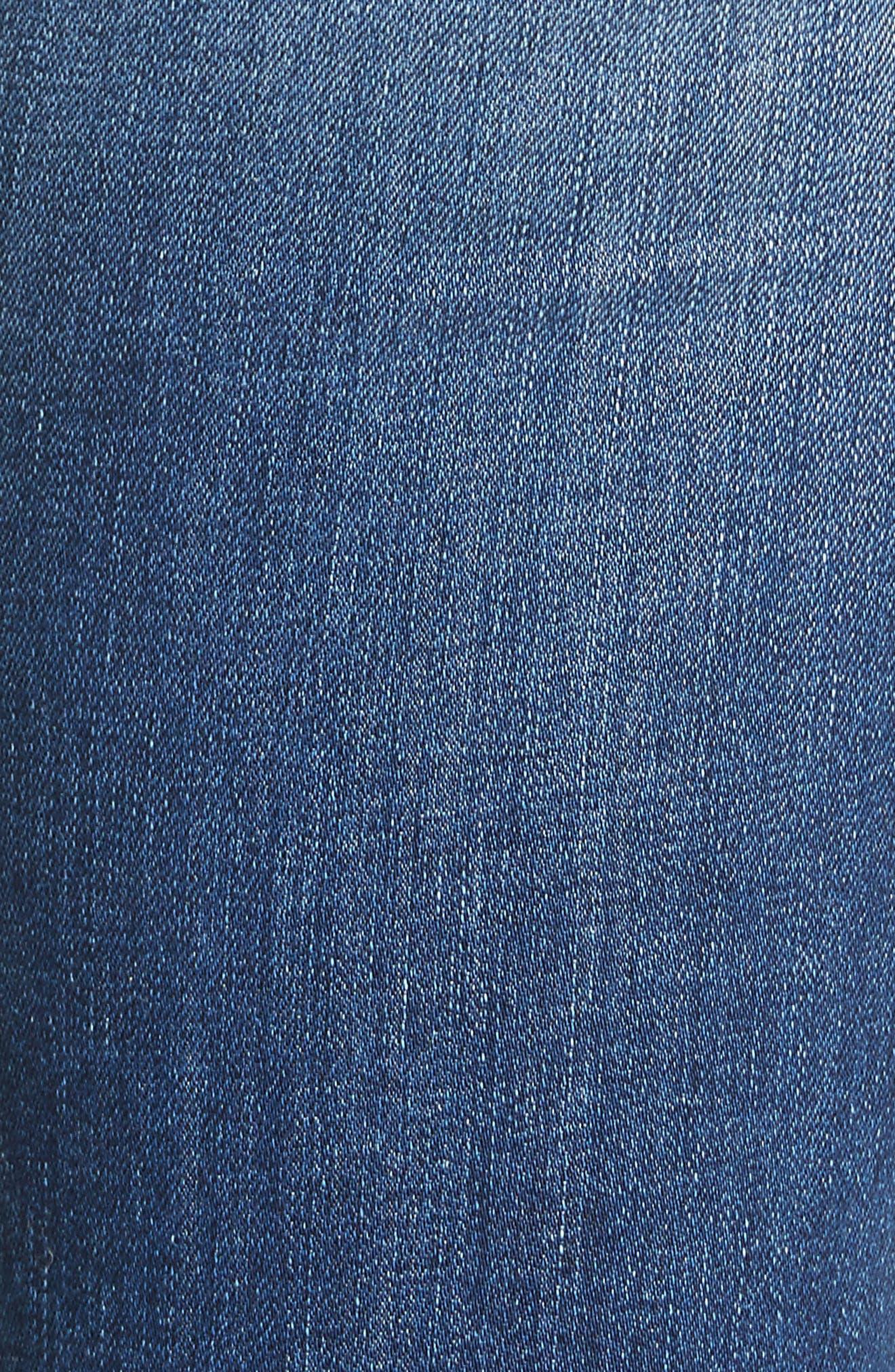 Alternate Image 5  - rag & bone/JEAN Ripped High Waist Skinny Jeans (Bonnie)