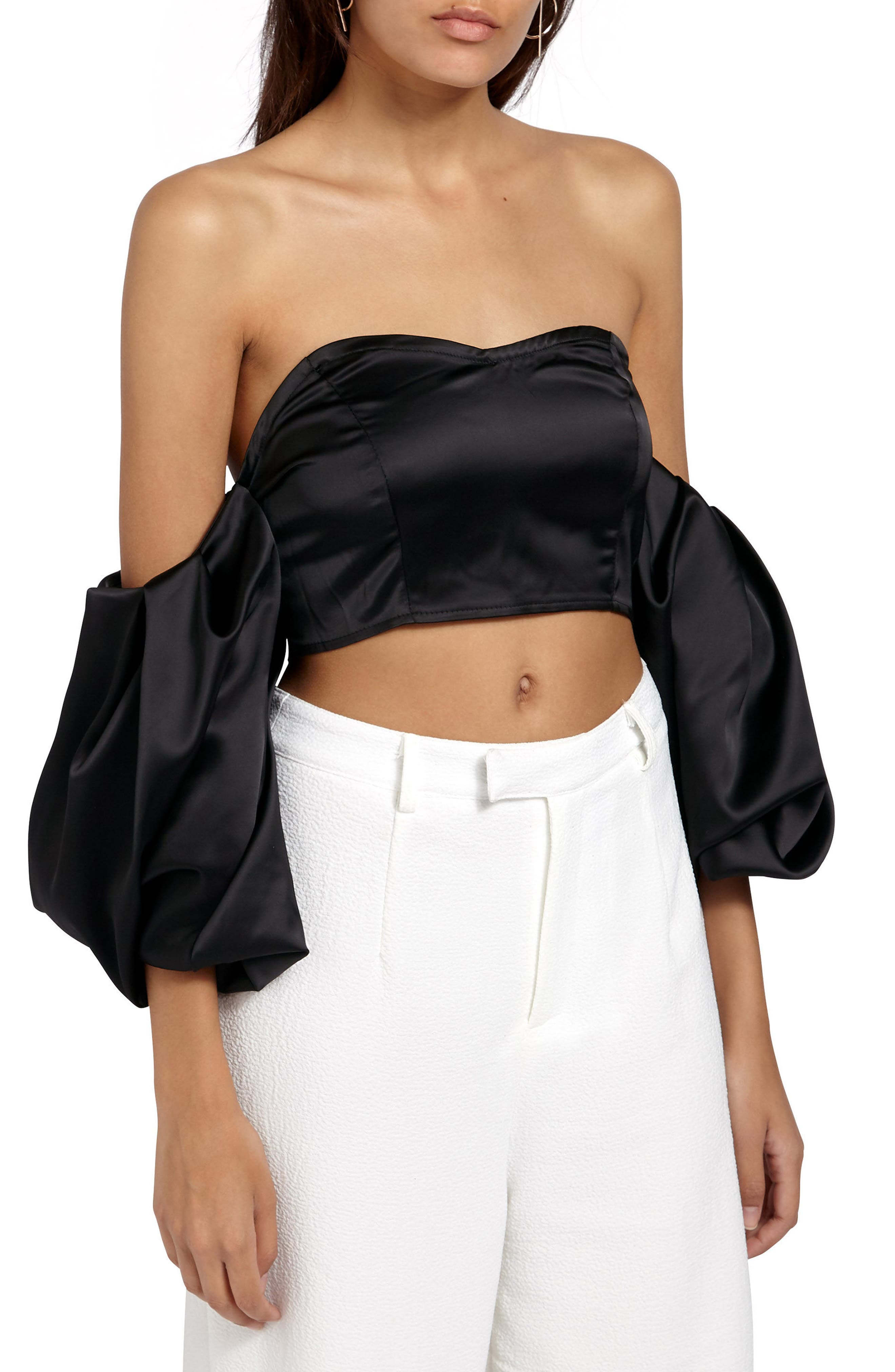 Alternate Image 1 Selected - Missguided Off the Shoulder Crop Top
