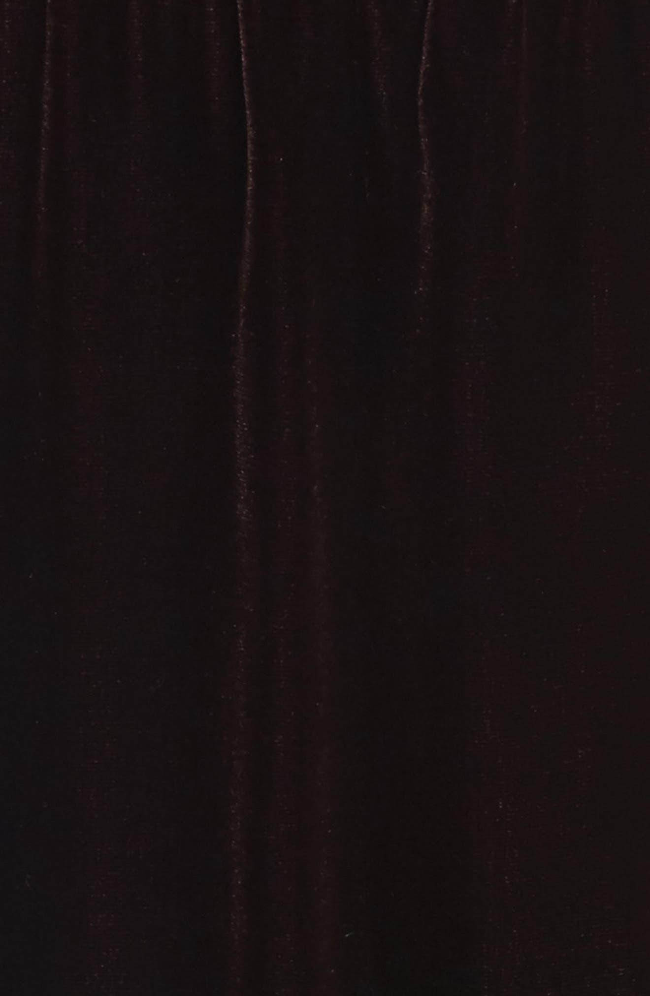 Alternate Image 5  - Lewit Ruched Detail Velvet Slipdress