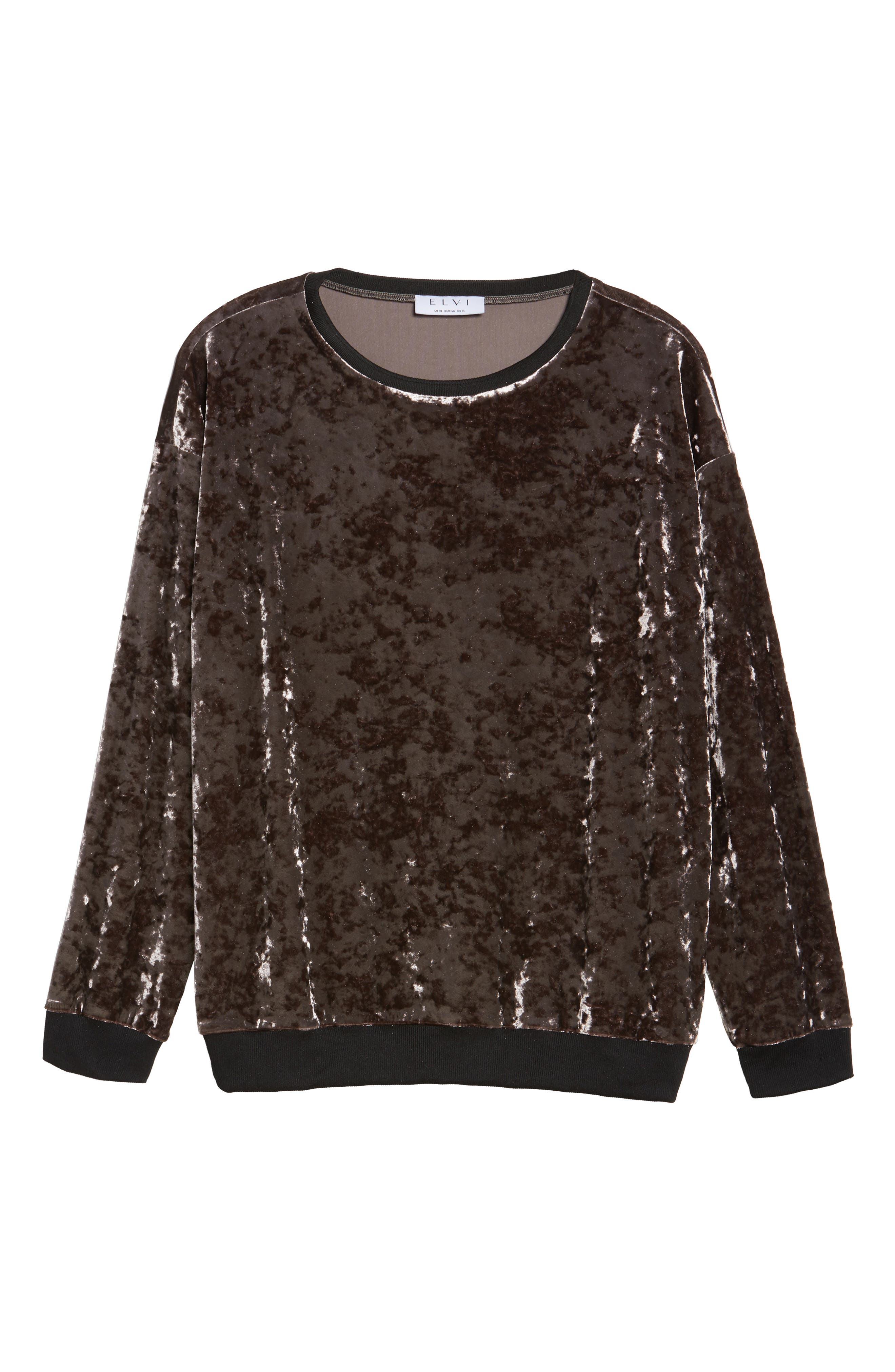 Crushed Velvet Sweater,                             Alternate thumbnail 6, color,                             Mauve