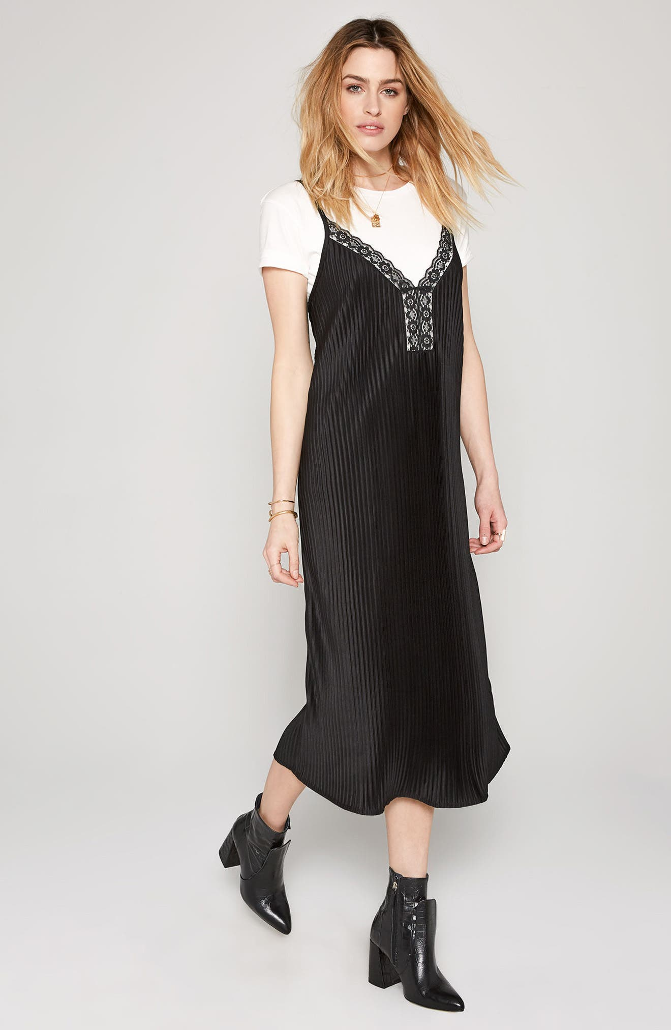 Sweet Surrender Slipdress,                             Alternate thumbnail 3, color,                             Black