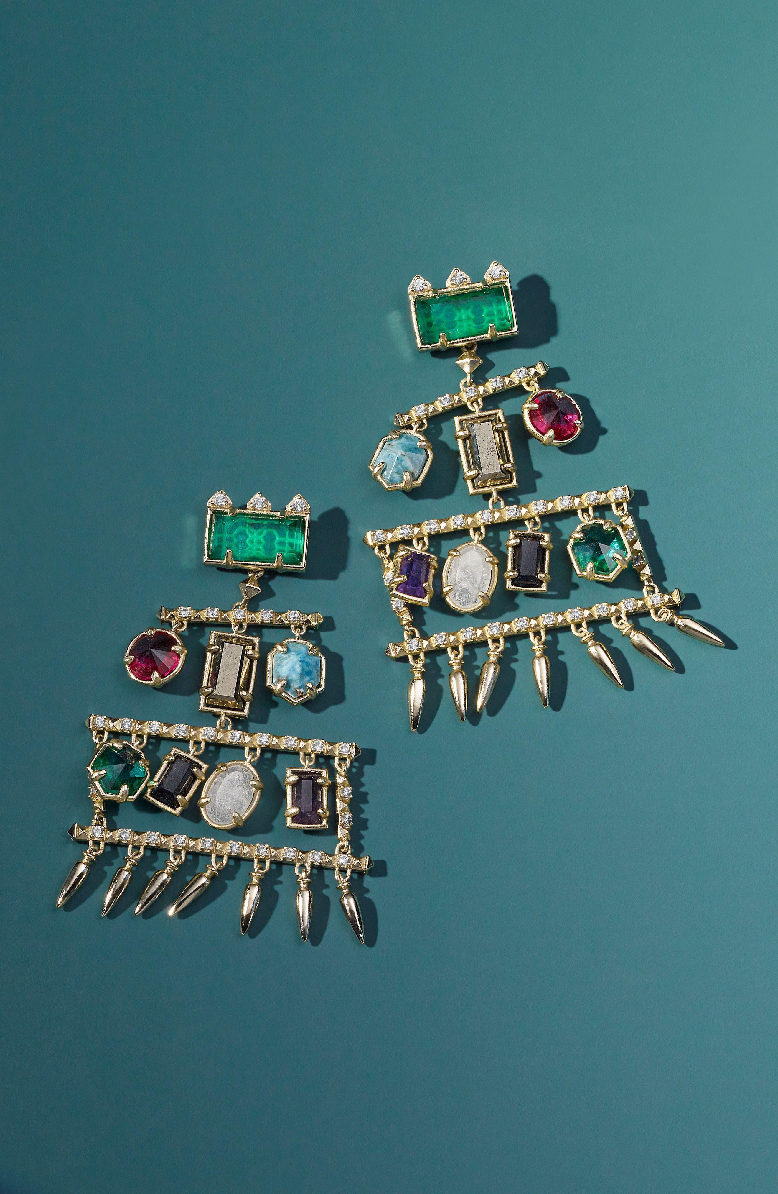 Emmylou Chandelier Earrings,                             Alternate thumbnail 3, color,
