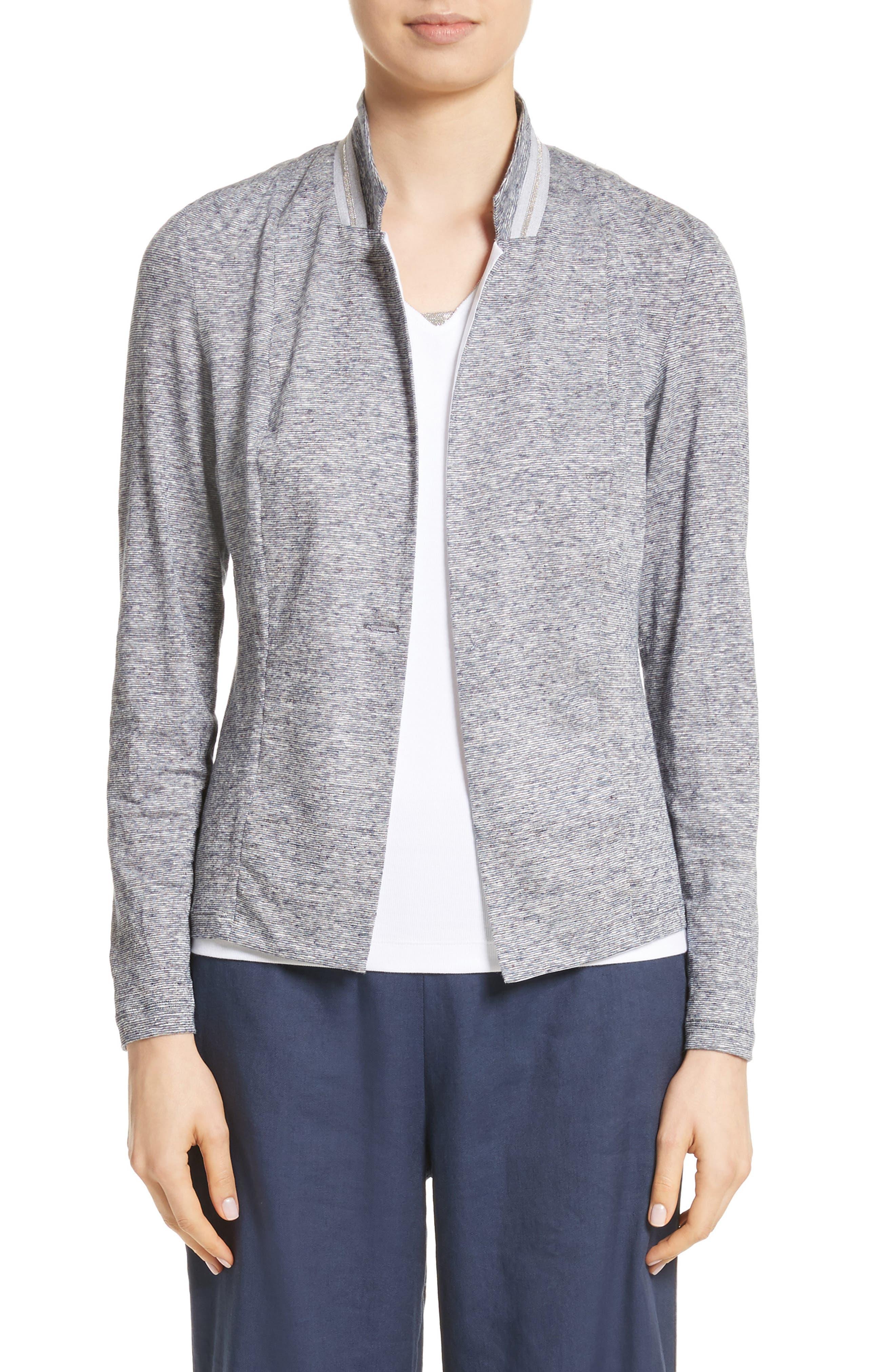 Fabiana Filippi Grosgrain Stripe Jersey Jacket