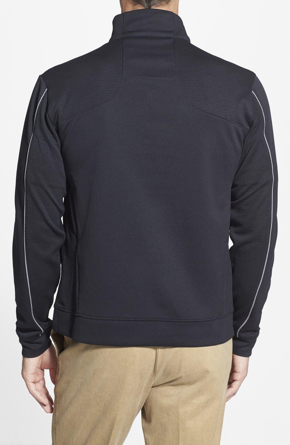 Detroit Lions - Edge DryTec Moisture Wicking Half Zip Pullover,                             Alternate thumbnail 2, color,                             Black