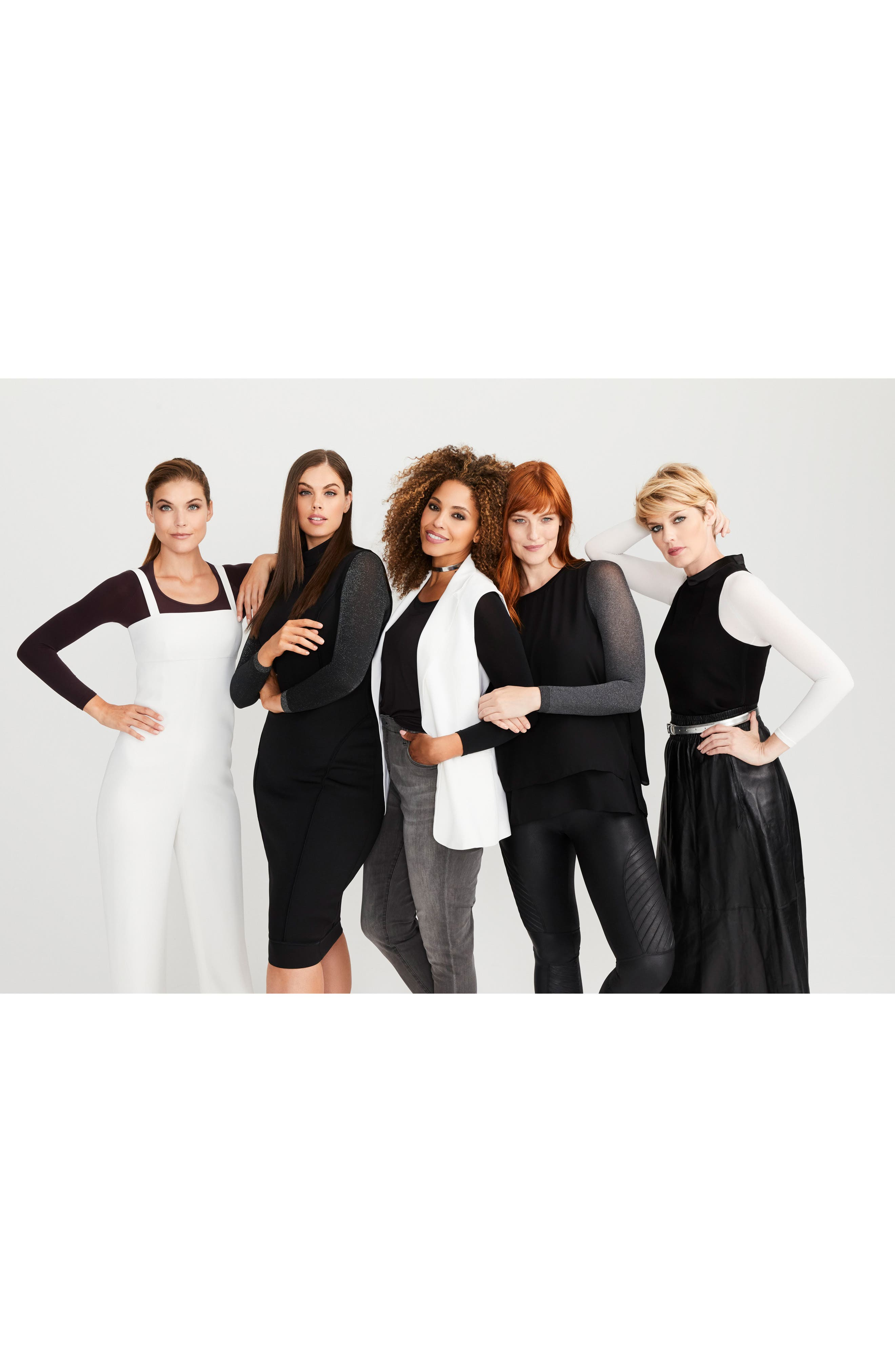 SPANX Arm Tights<sup>™</sup> Opaque Layering Top,                             Alternate thumbnail 7, color,                             Heather Grey