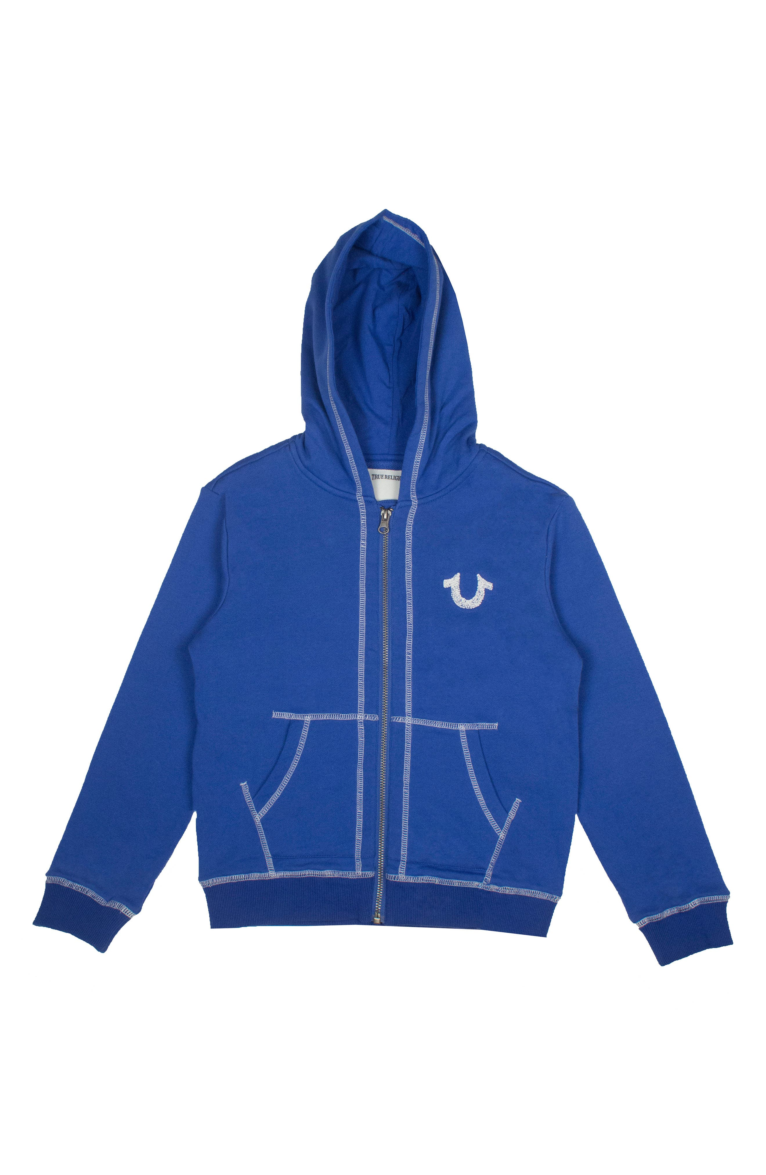Alternate Image 1 Selected - True Religion Brand Jeans Shoe String Zip Hoodie (Toddler Boys & Little Boys)
