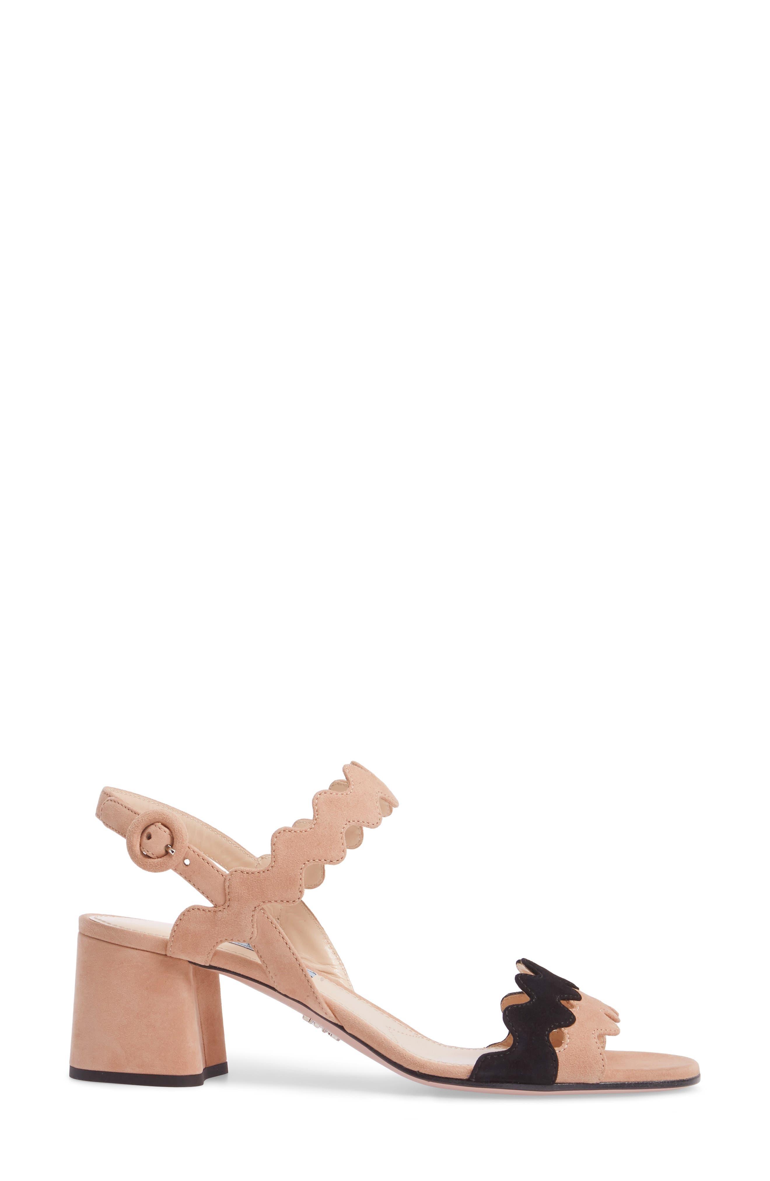 Double Strap Wave Sandal,                             Alternate thumbnail 3, color,                             Nude