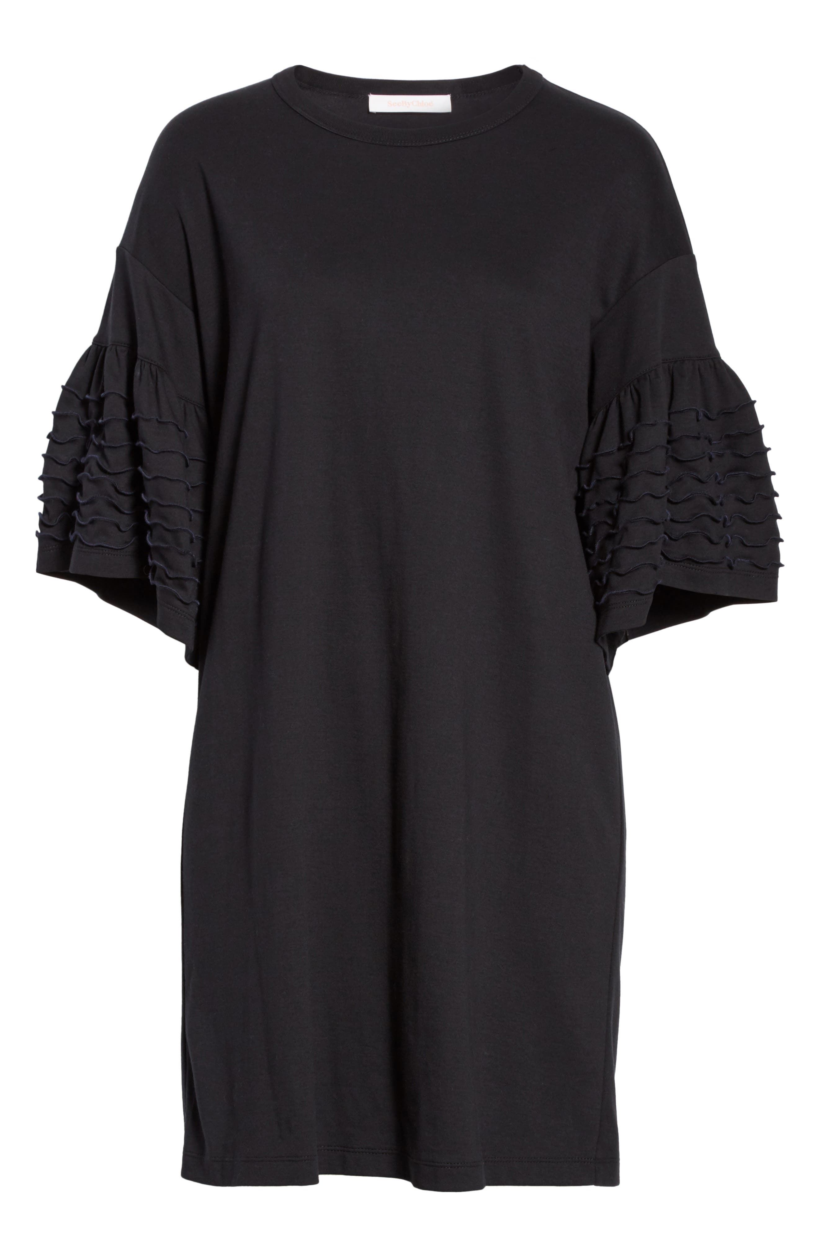 Alternate Image 6  - See by Chloé Ruffle Sleeve Cotton Shift Dress