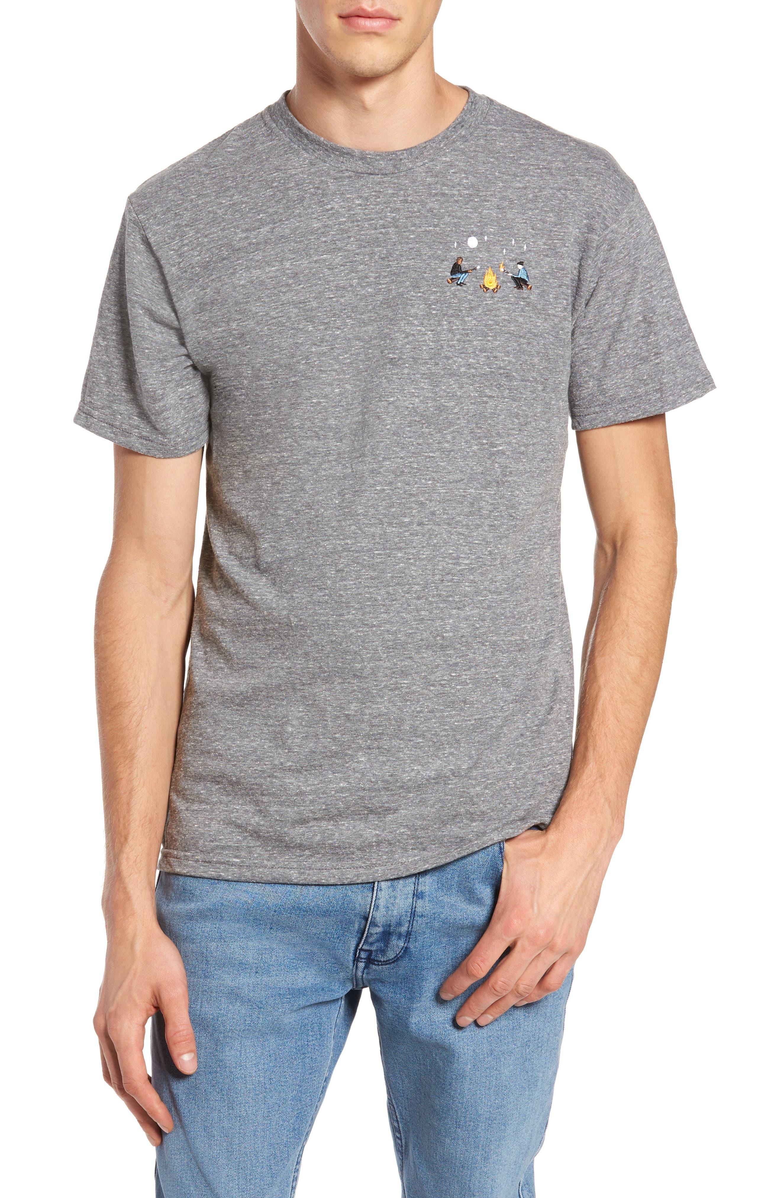 Burning Marshmallows T-Shirt,                             Main thumbnail 1, color,                             Triblend Grey
