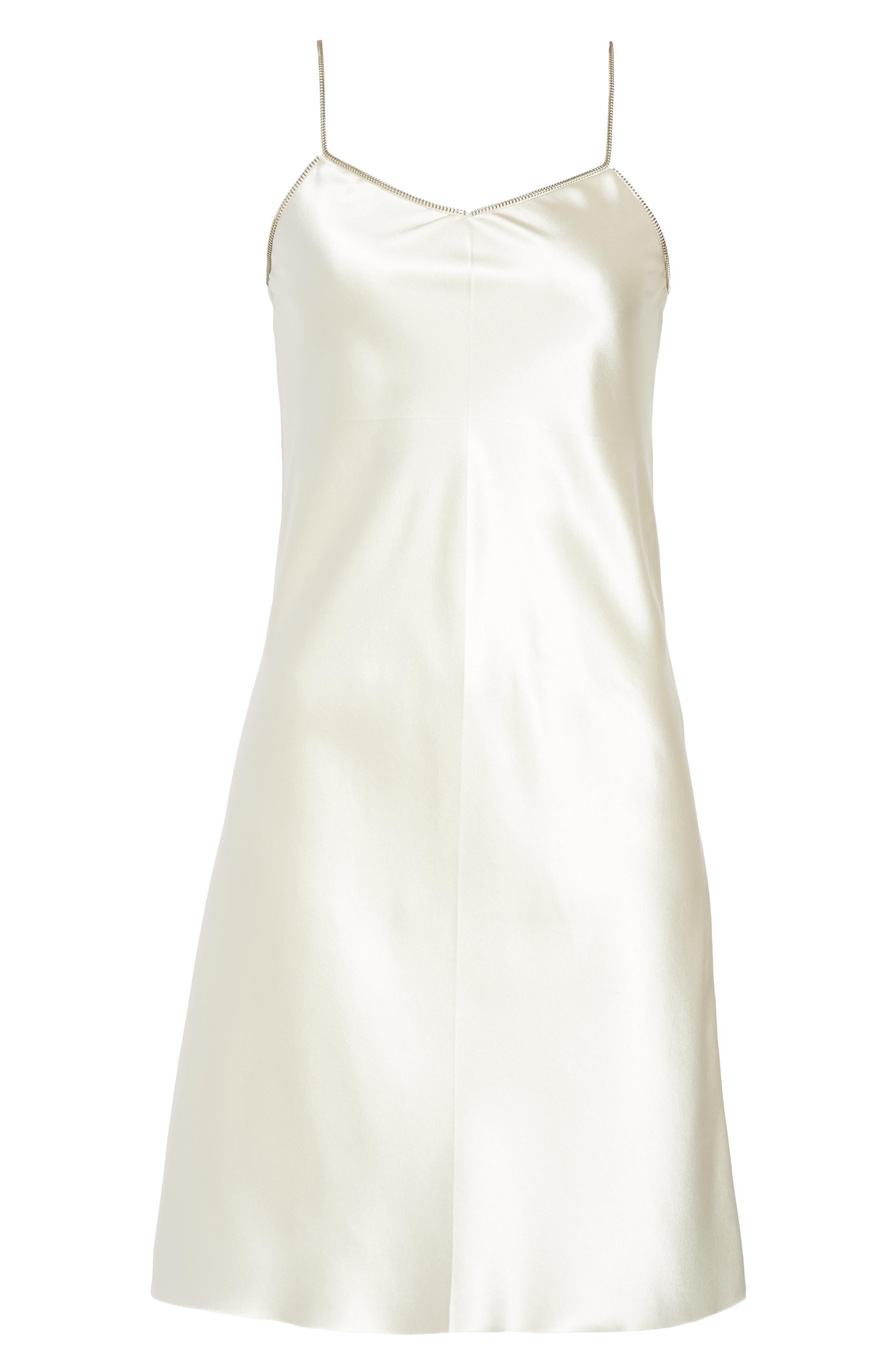 Alternate Image 6  - Helmut Lang Zipper Detail Lacquered Silk Slipdress