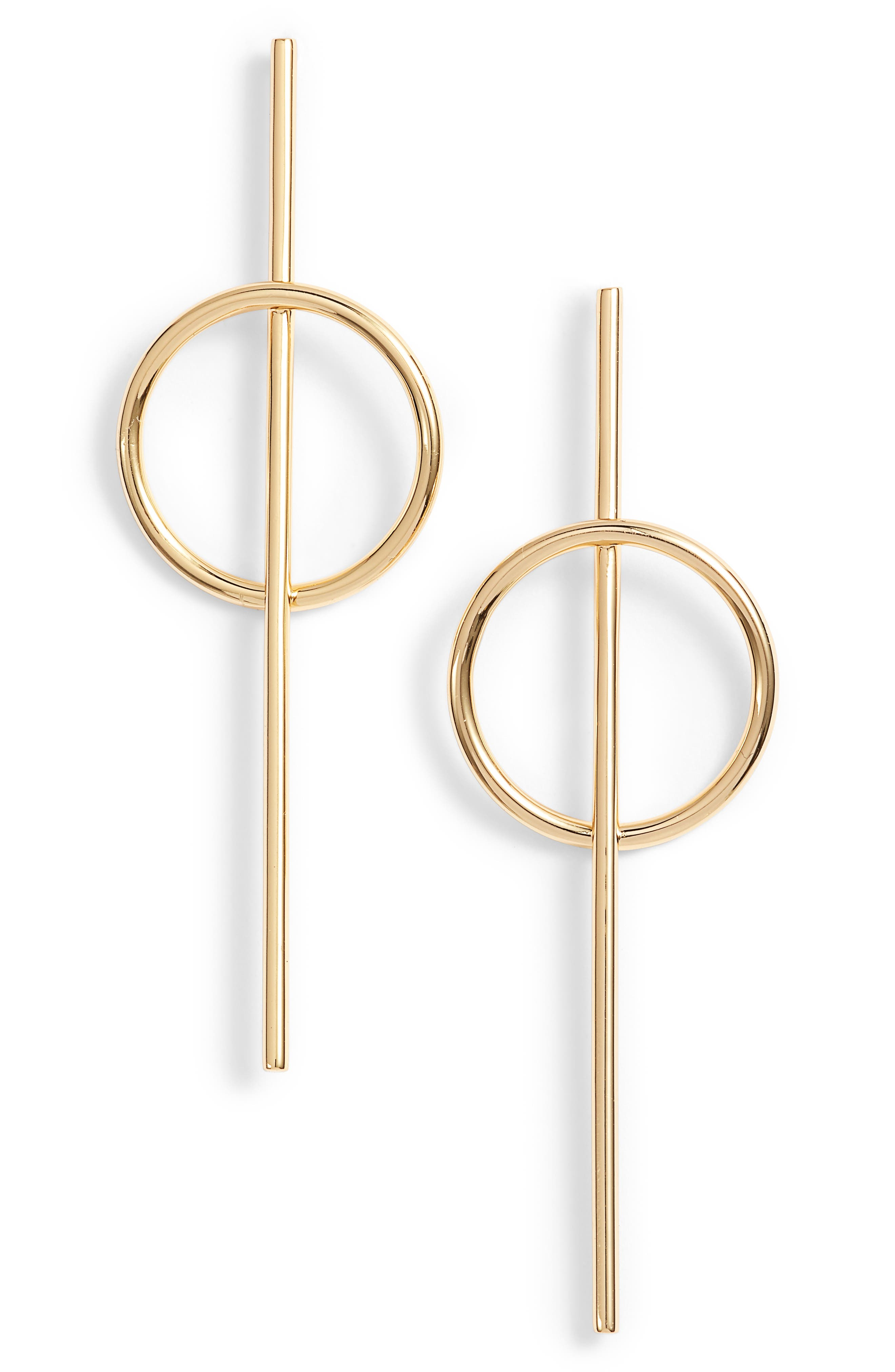 Morgan Hoop Earrings,                         Main,                         color, Gold