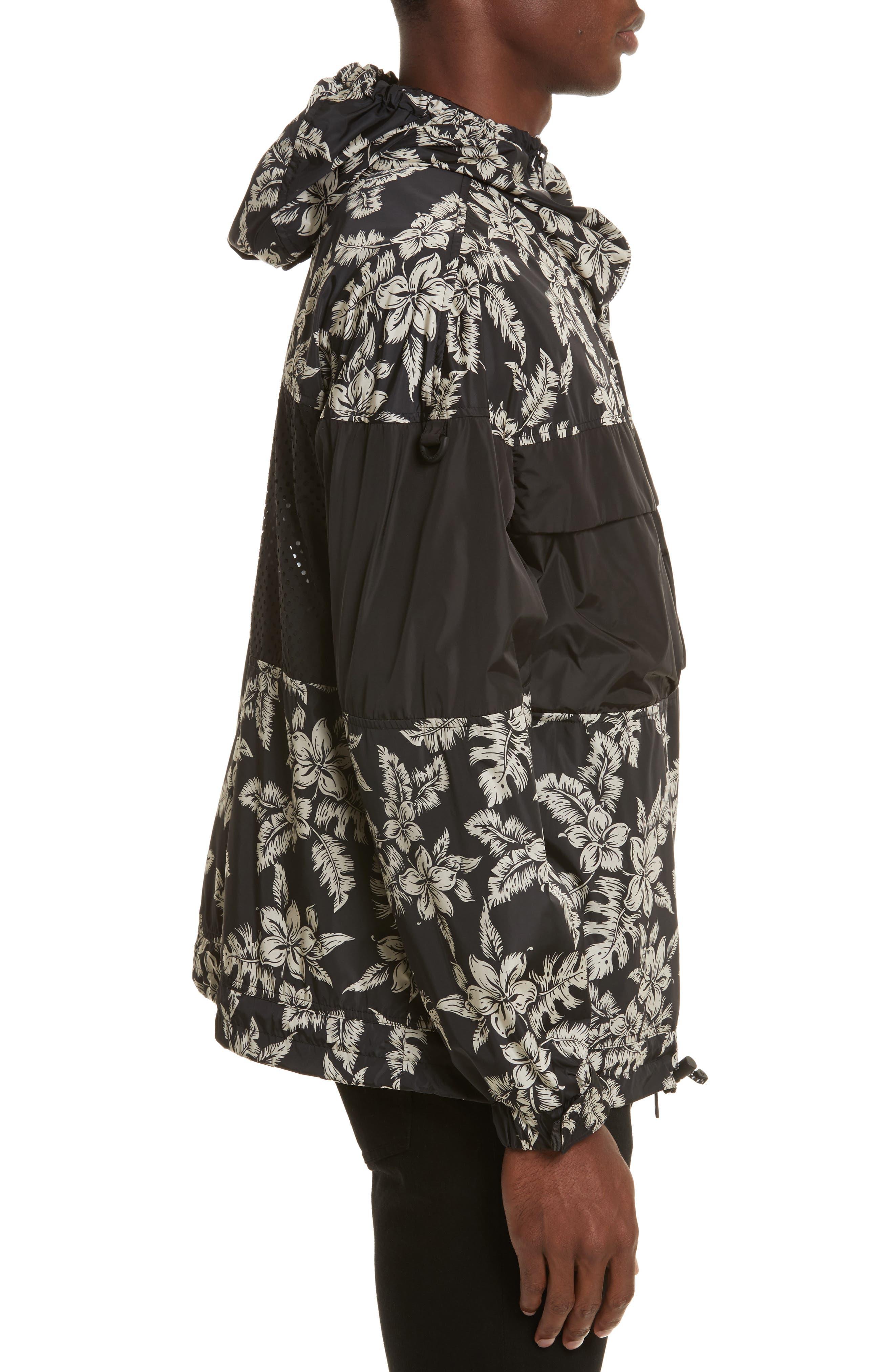 Thiou Floral Print Jacket,                             Alternate thumbnail 3, color,                             Black