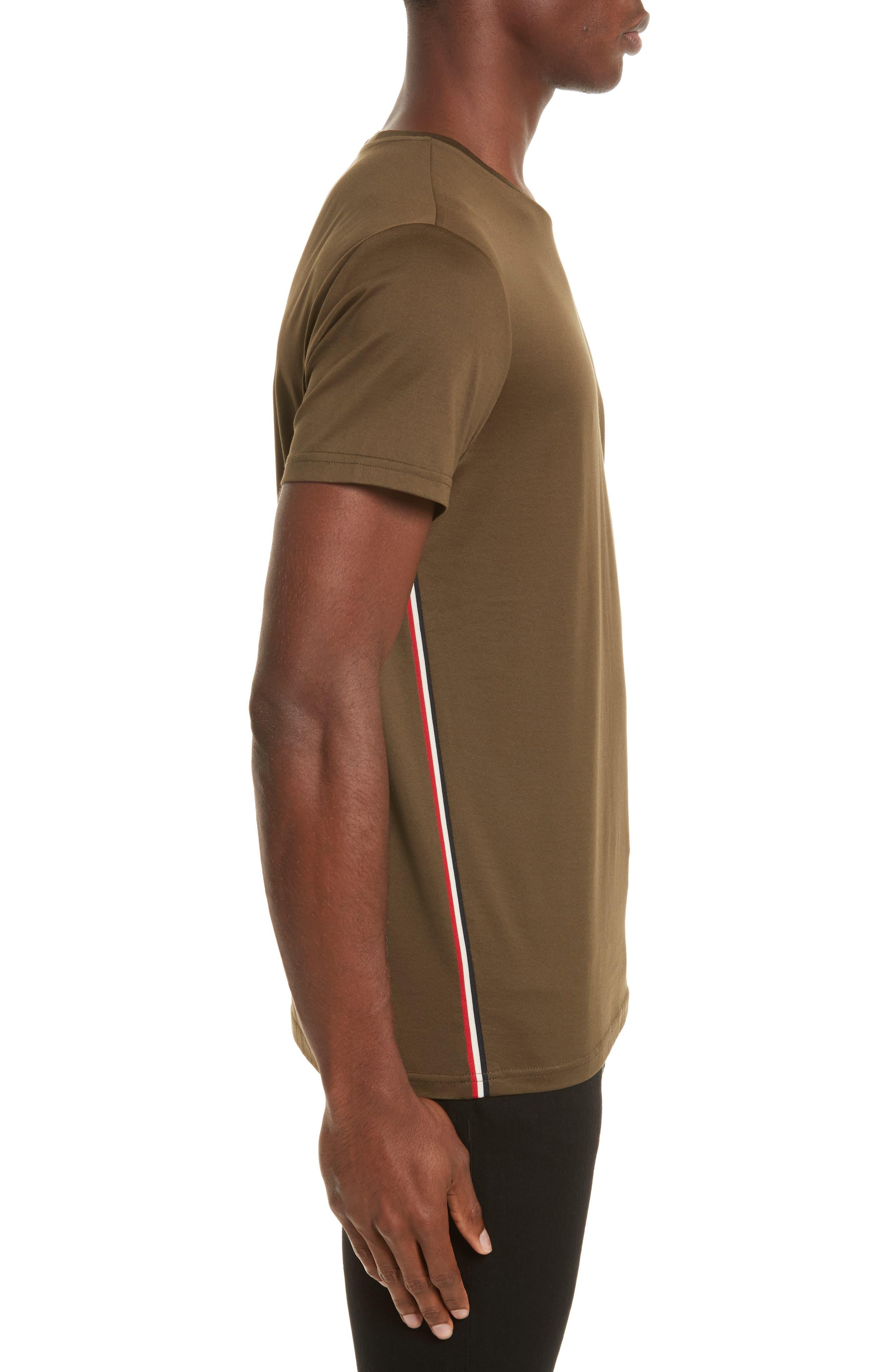Flag Trim T-Shirt,                             Alternate thumbnail 3, color,                             Olive