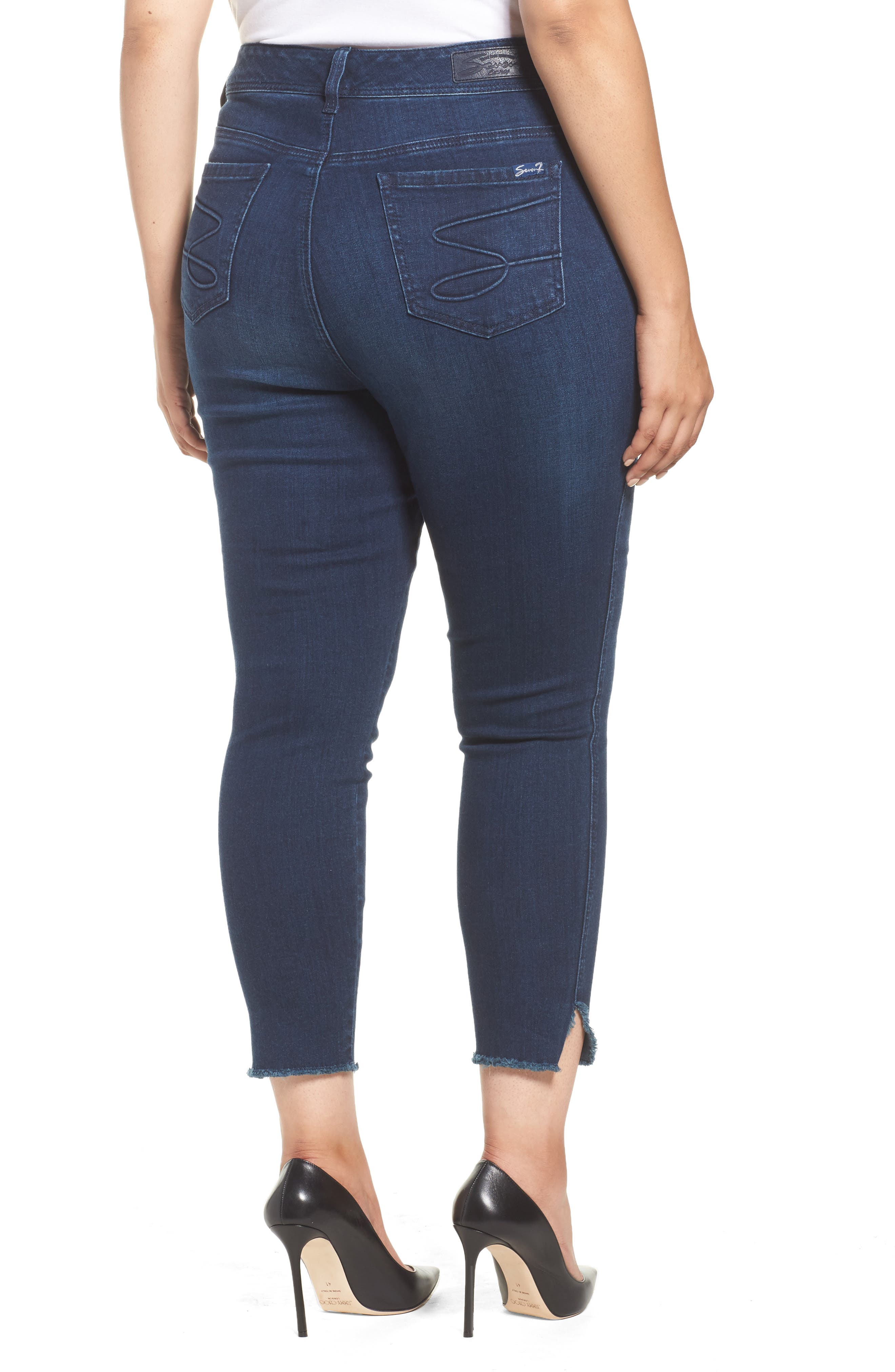 Alternate Image 2  - Seven7 High Waist Ankle Skinny Jeans (Plus Size)