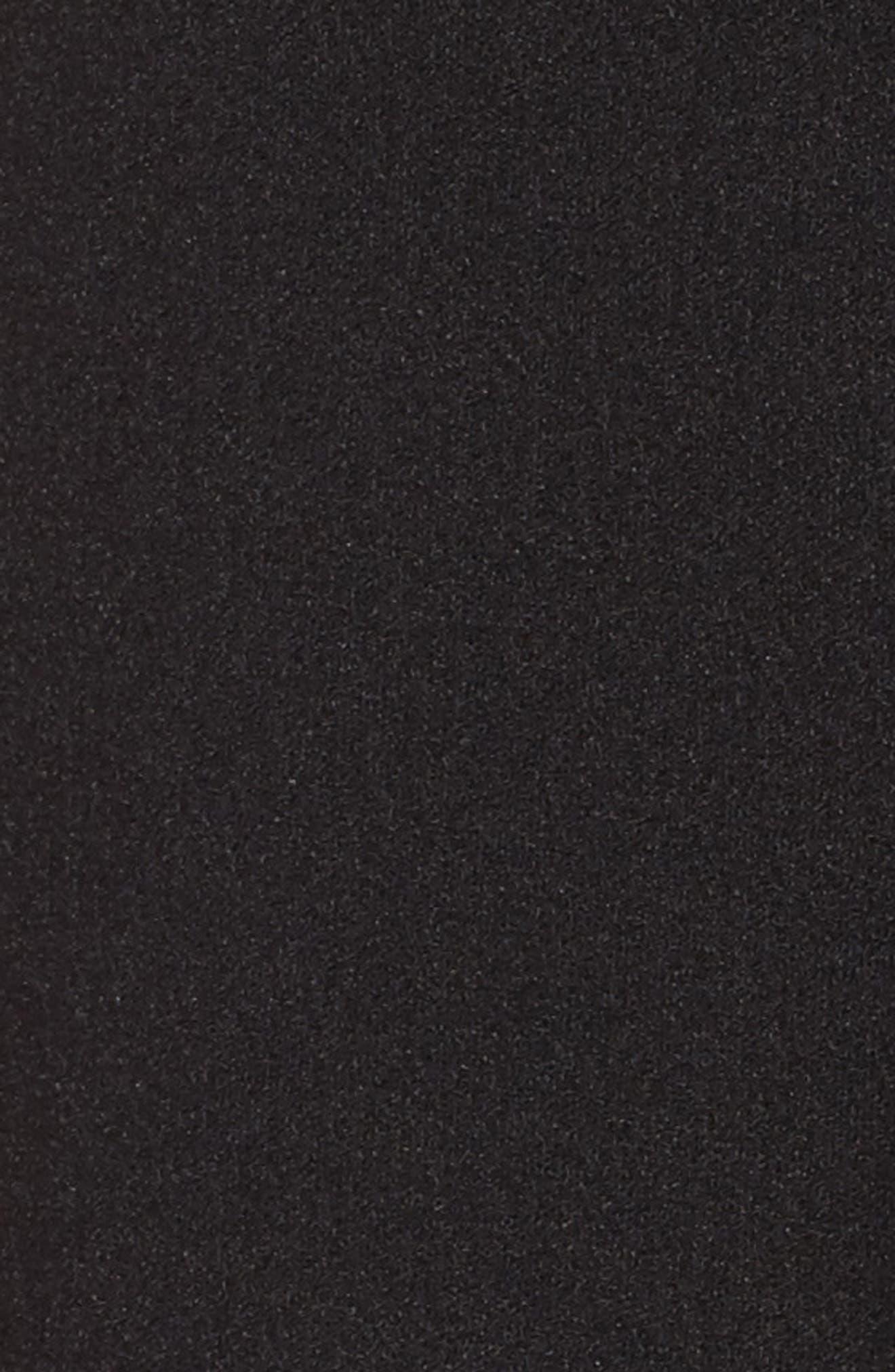 Tie Waist Shorts,                             Alternate thumbnail 5, color,                             Black