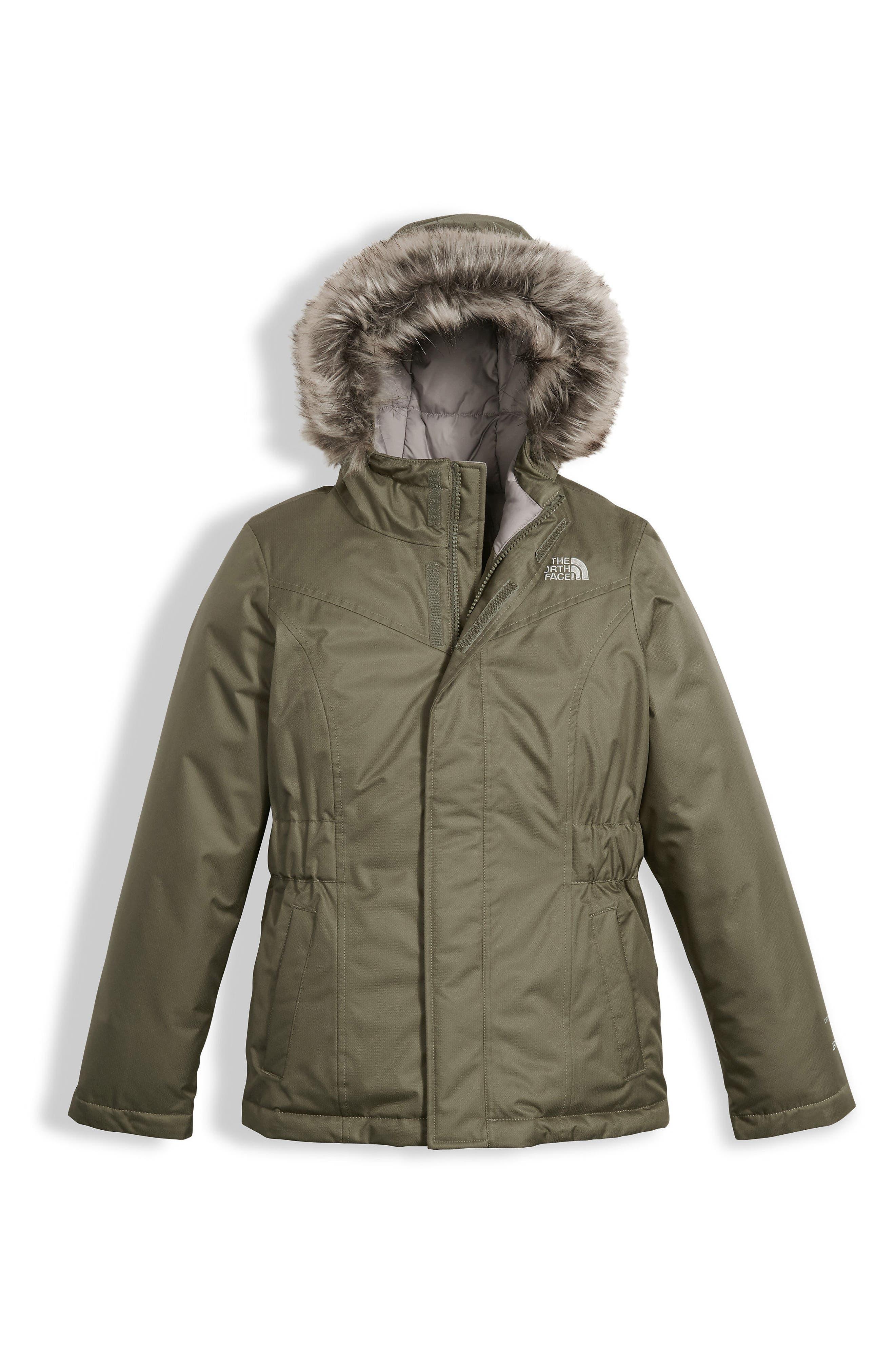Greenland Waterproof 550-Fill Down Jacket,                             Main thumbnail 1, color,                             Burnt Olive Green