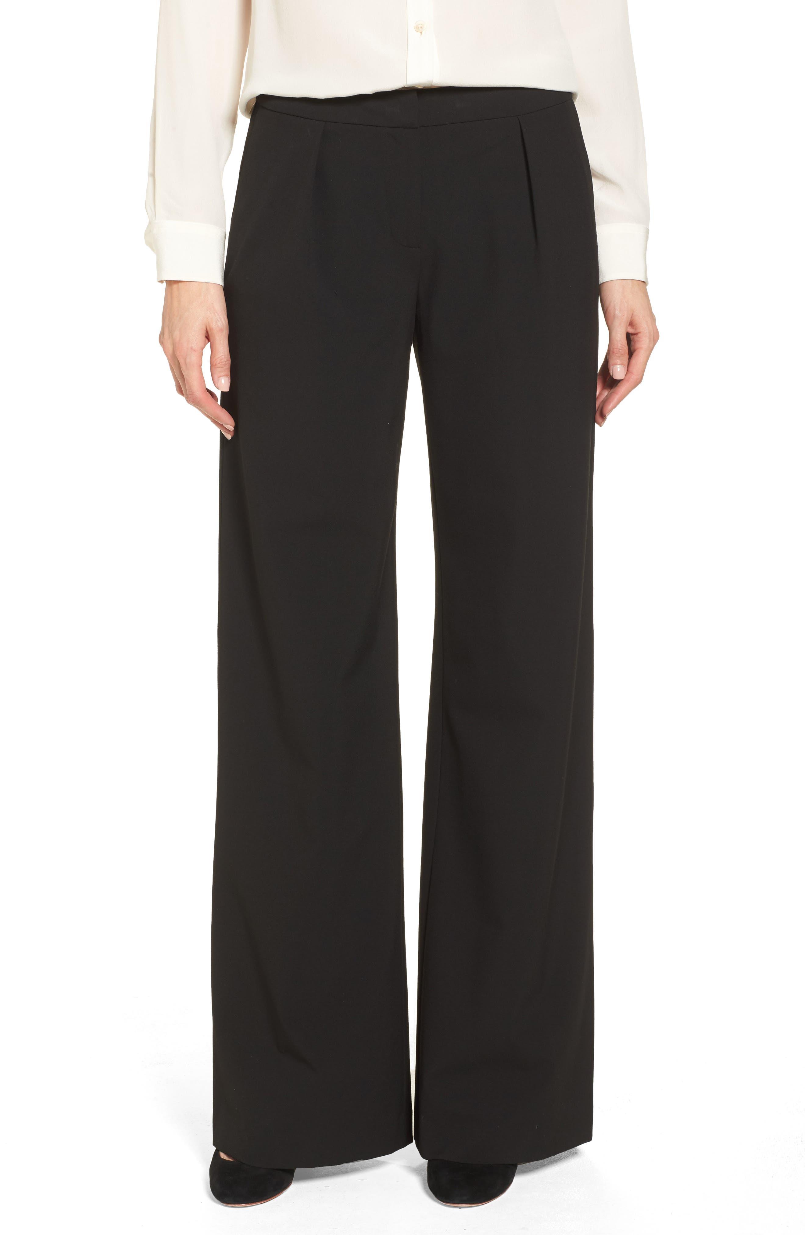 High Waist Wide Leg Pants,                         Main,                         color, Black