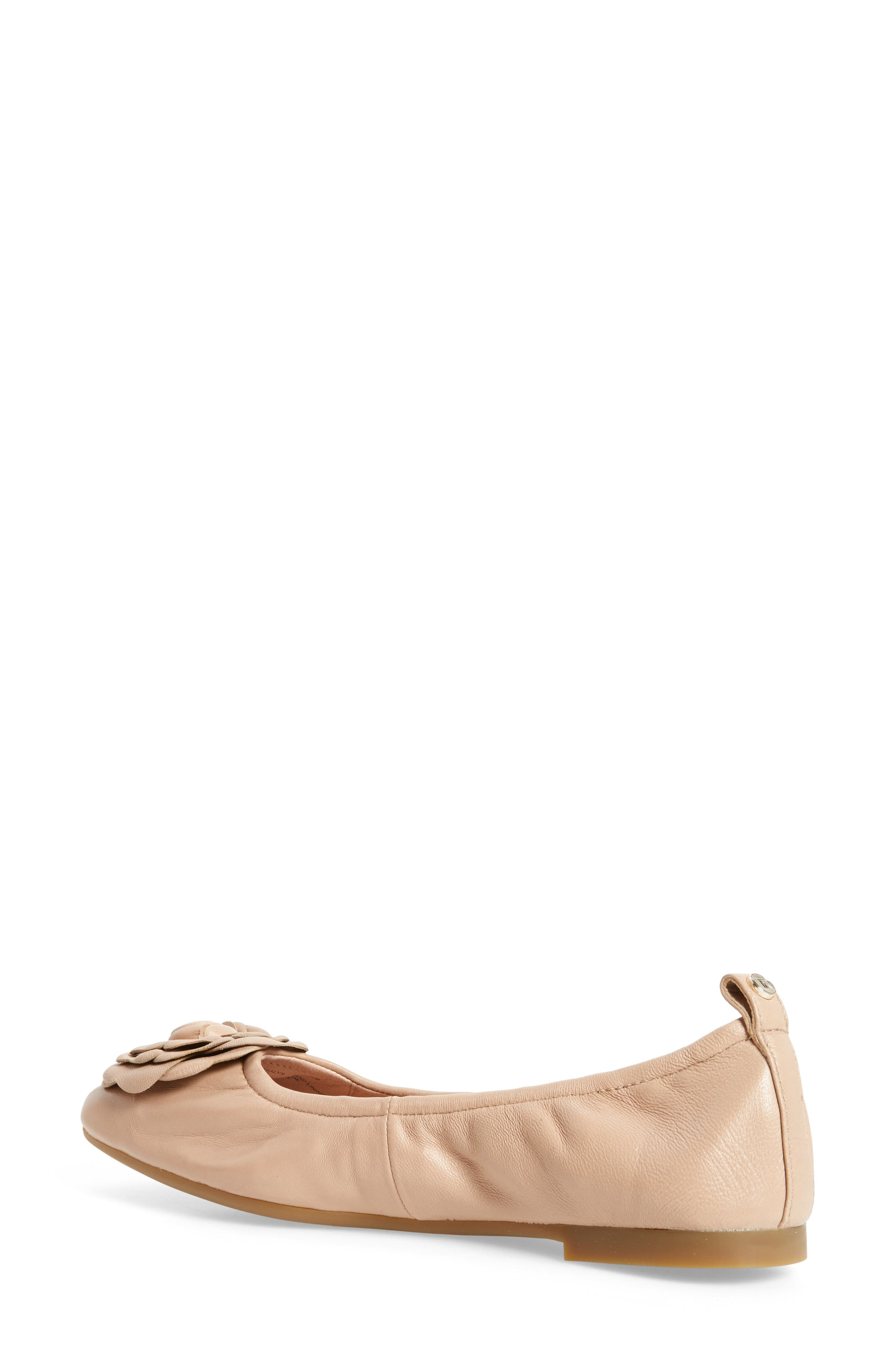 Rosalyn Ballet Flat,                             Alternate thumbnail 2, color,                             Nude Leather