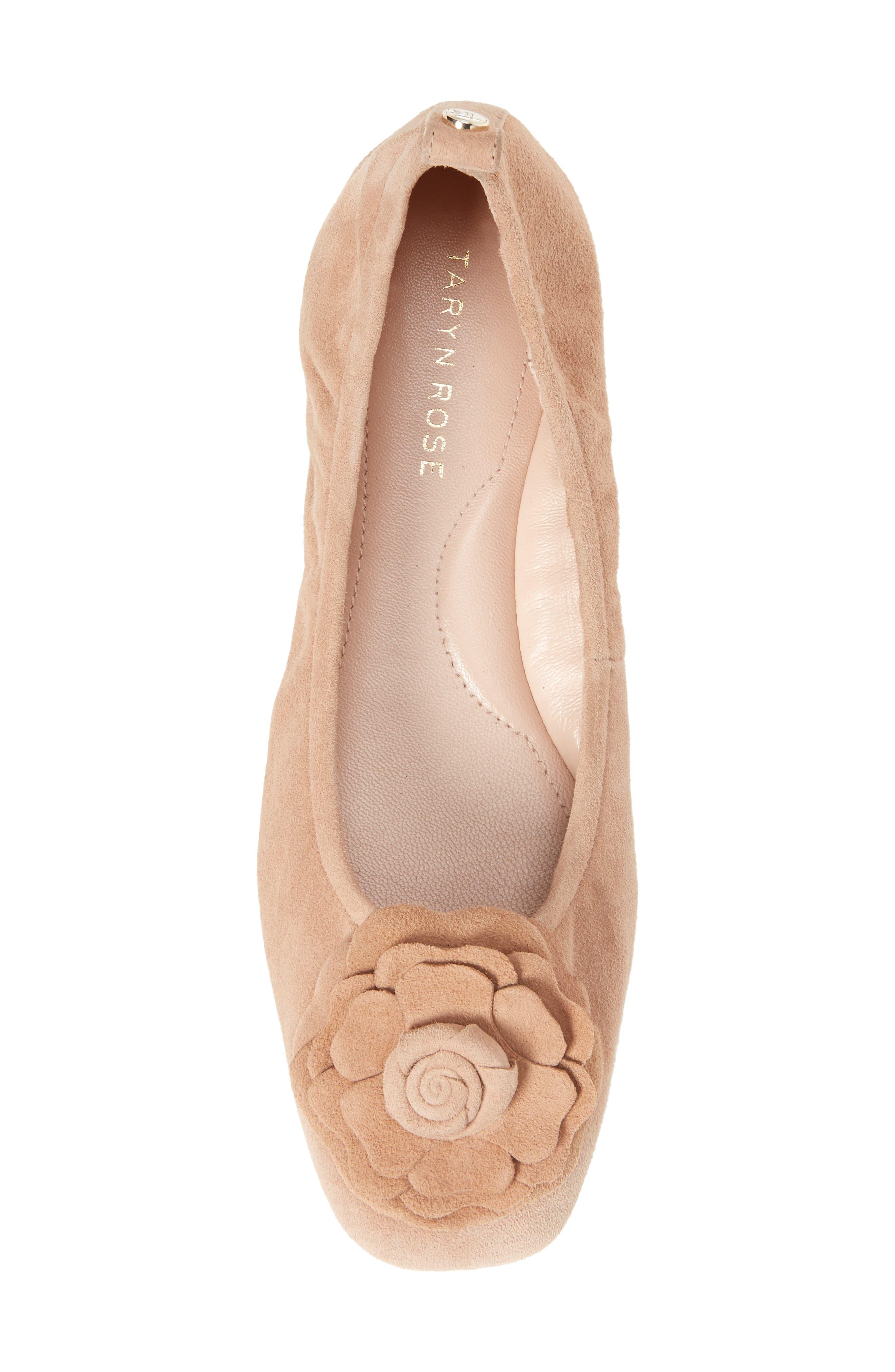 Rosalyn Ballet Flat,                             Alternate thumbnail 2, color,                             Soft Beige Suede