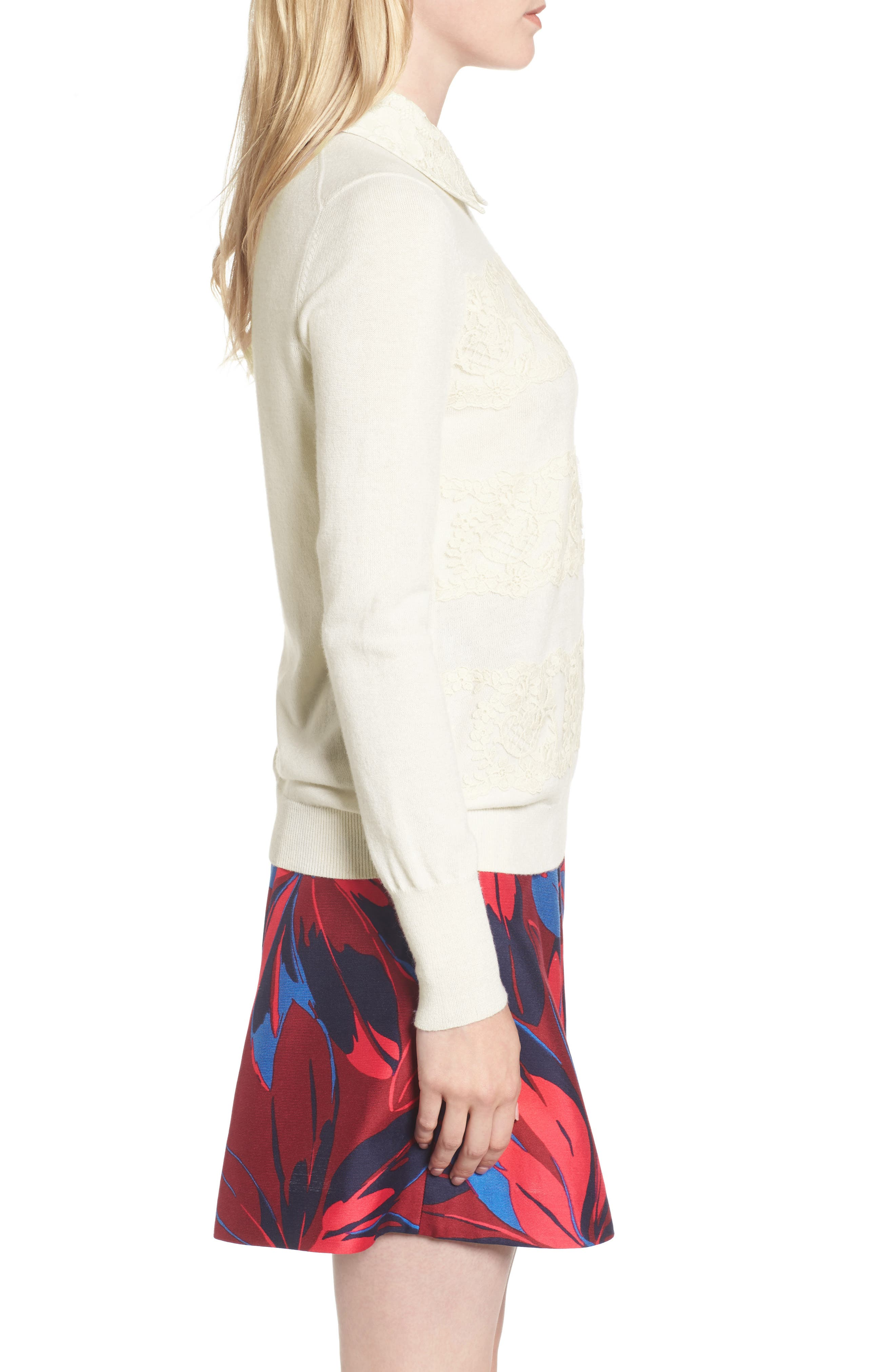 Alternate Image 3  - Draper James Lace Collar Augusta Sweater