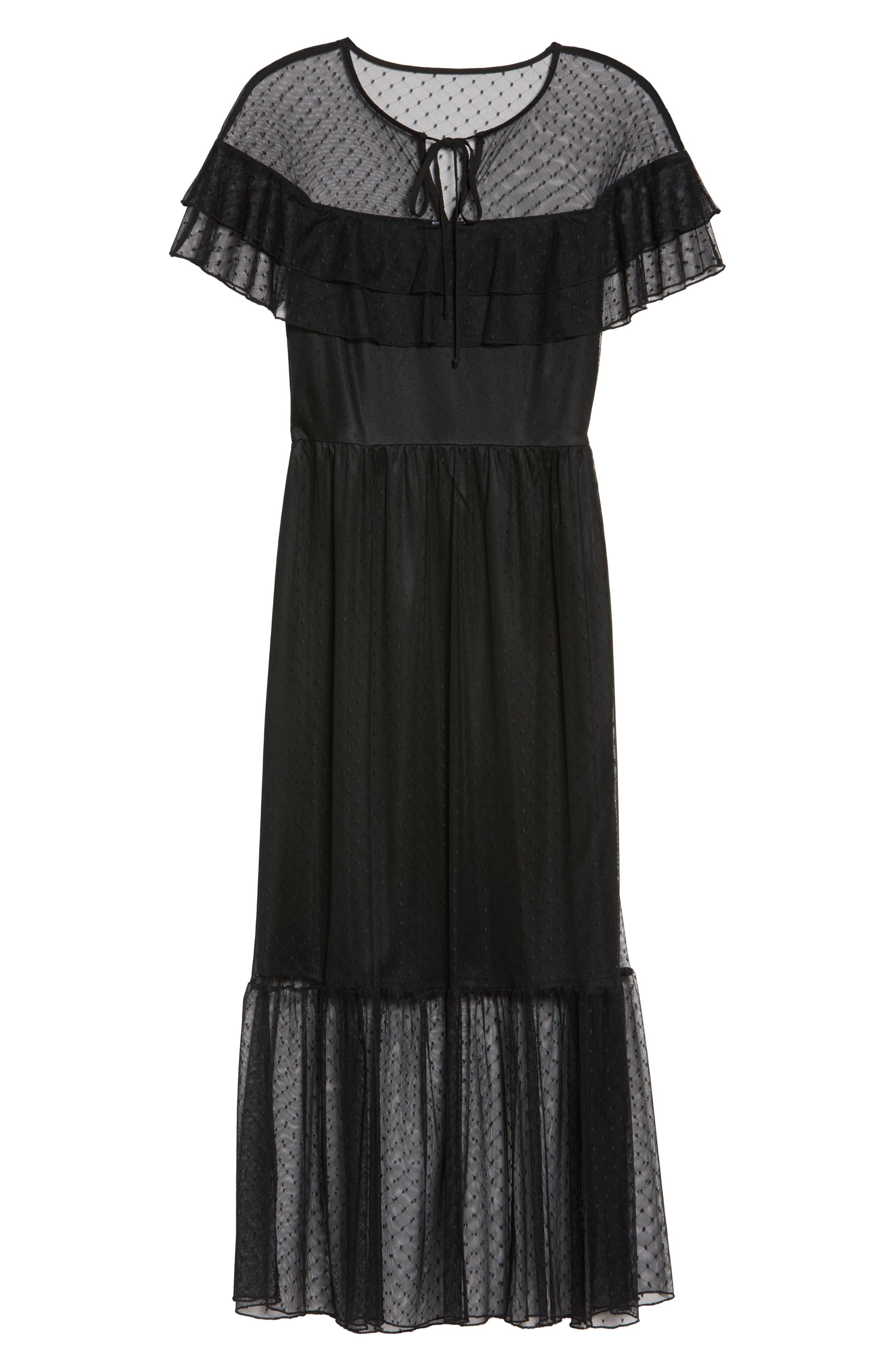 Alternate Image 6  - NSR Lace Midi Dress