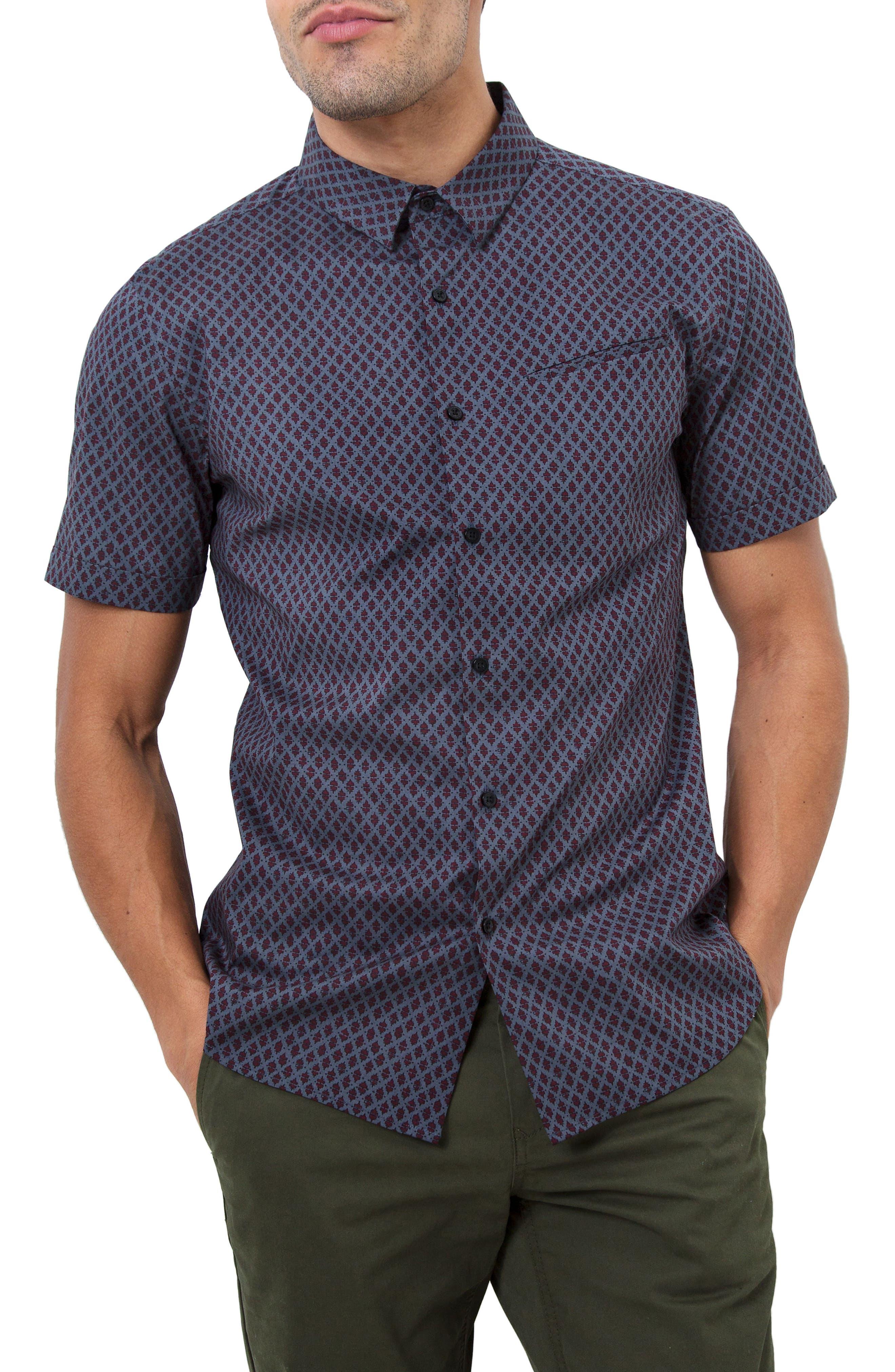 Dancing Mood Woven Shirt,                         Main,                         color, Navy