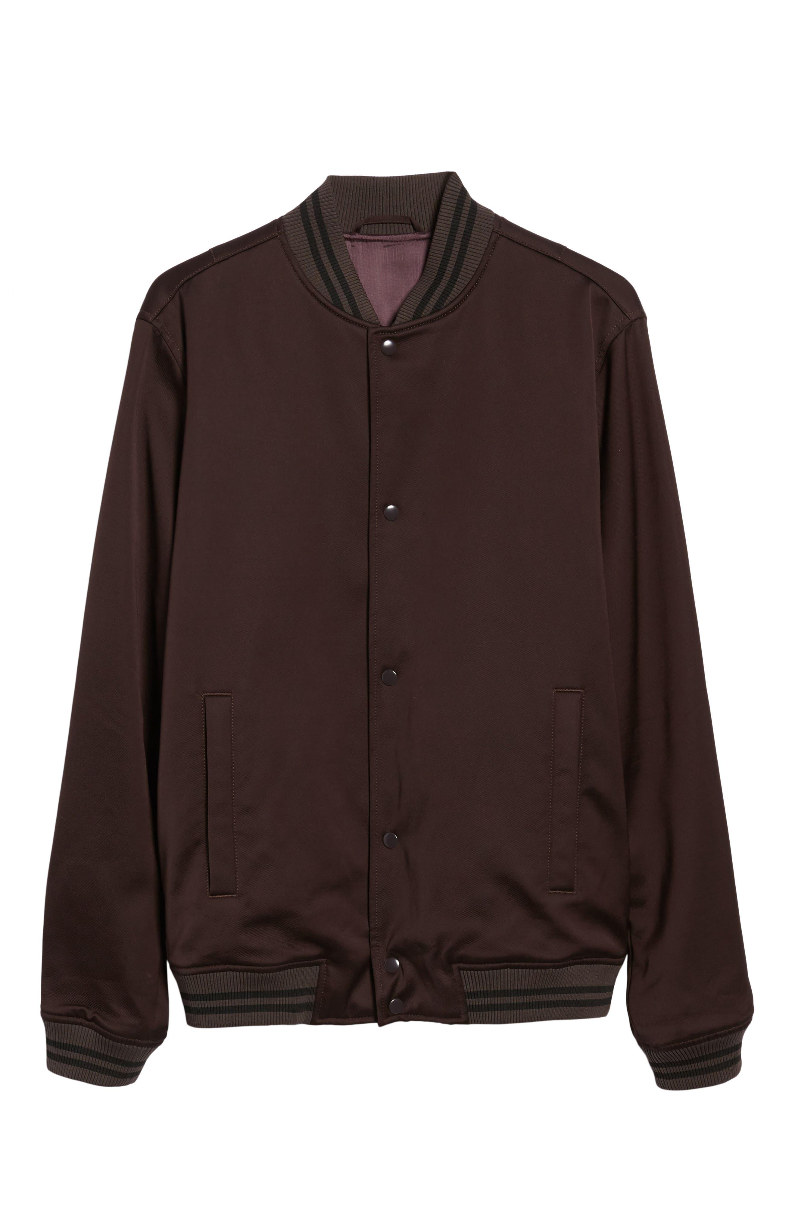 Varsity Jacket,                             Alternate thumbnail 6, color,                             Zinfandel