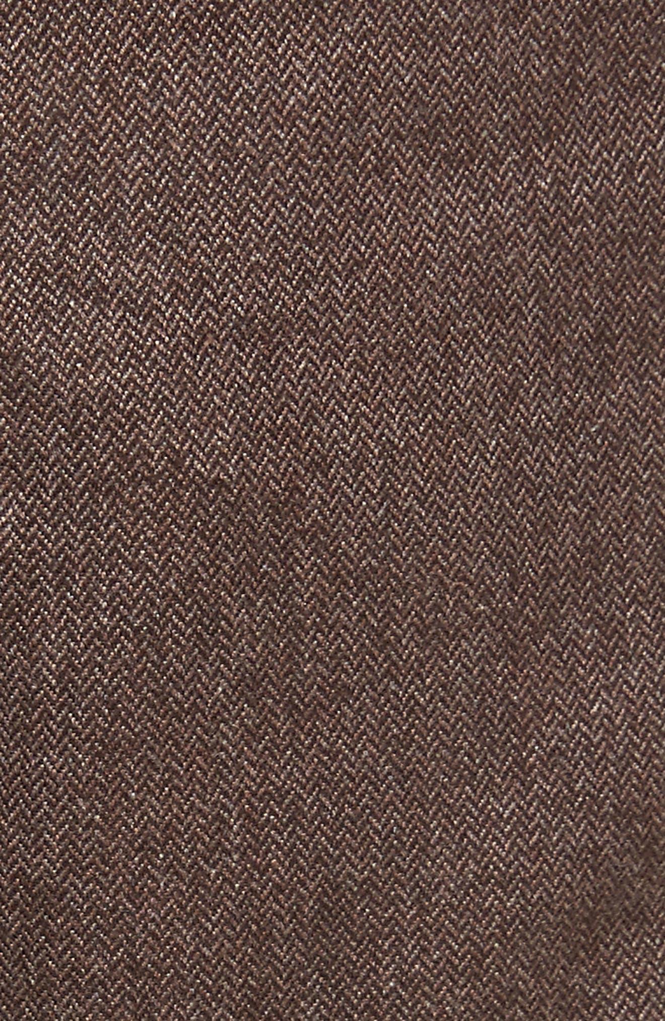 Alternate Image 5  - Canali Regular Fit Herringbone 5-Pocket Pants