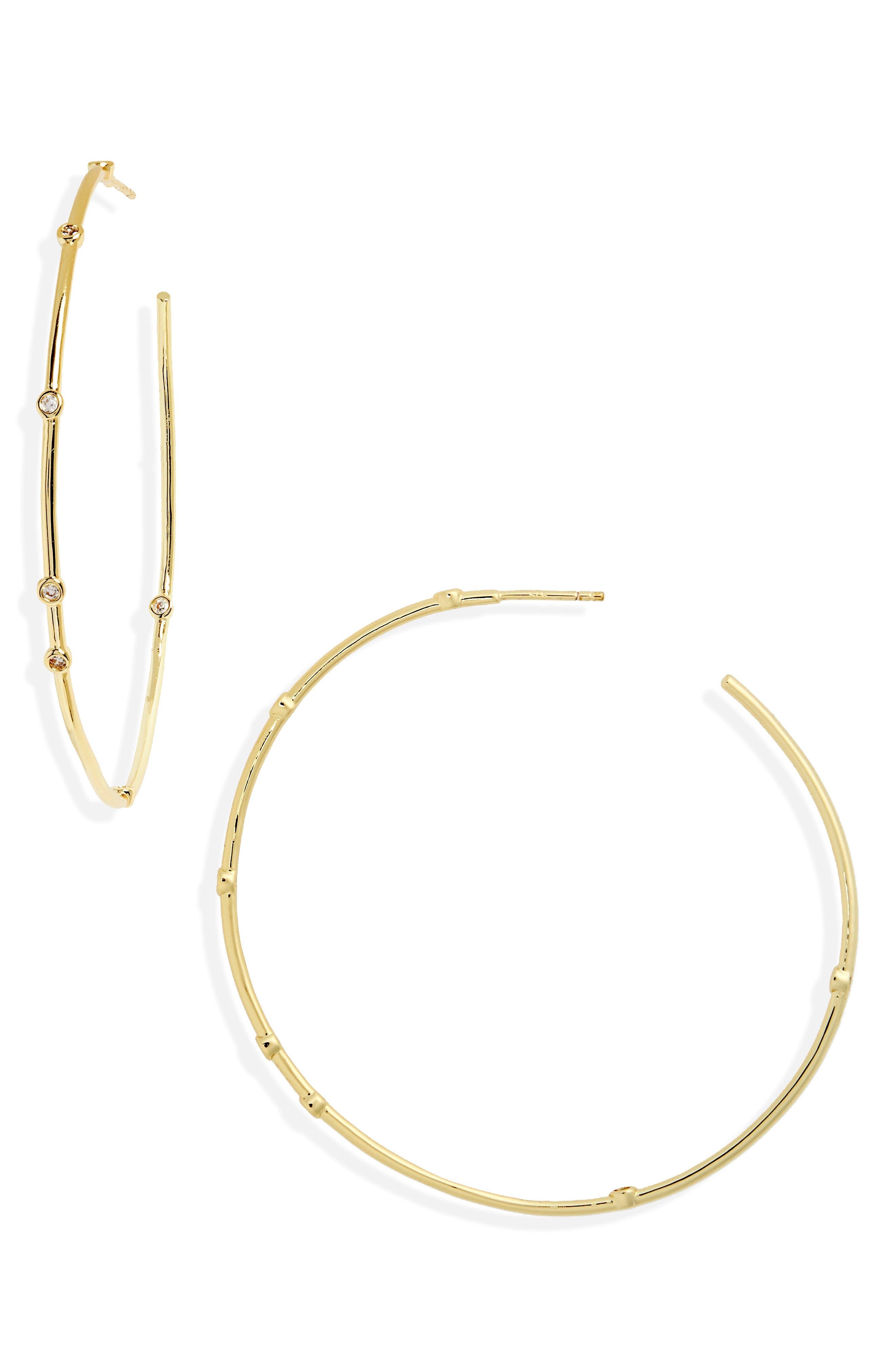 Melinda Maria Inside Out Station Hoop Earrings