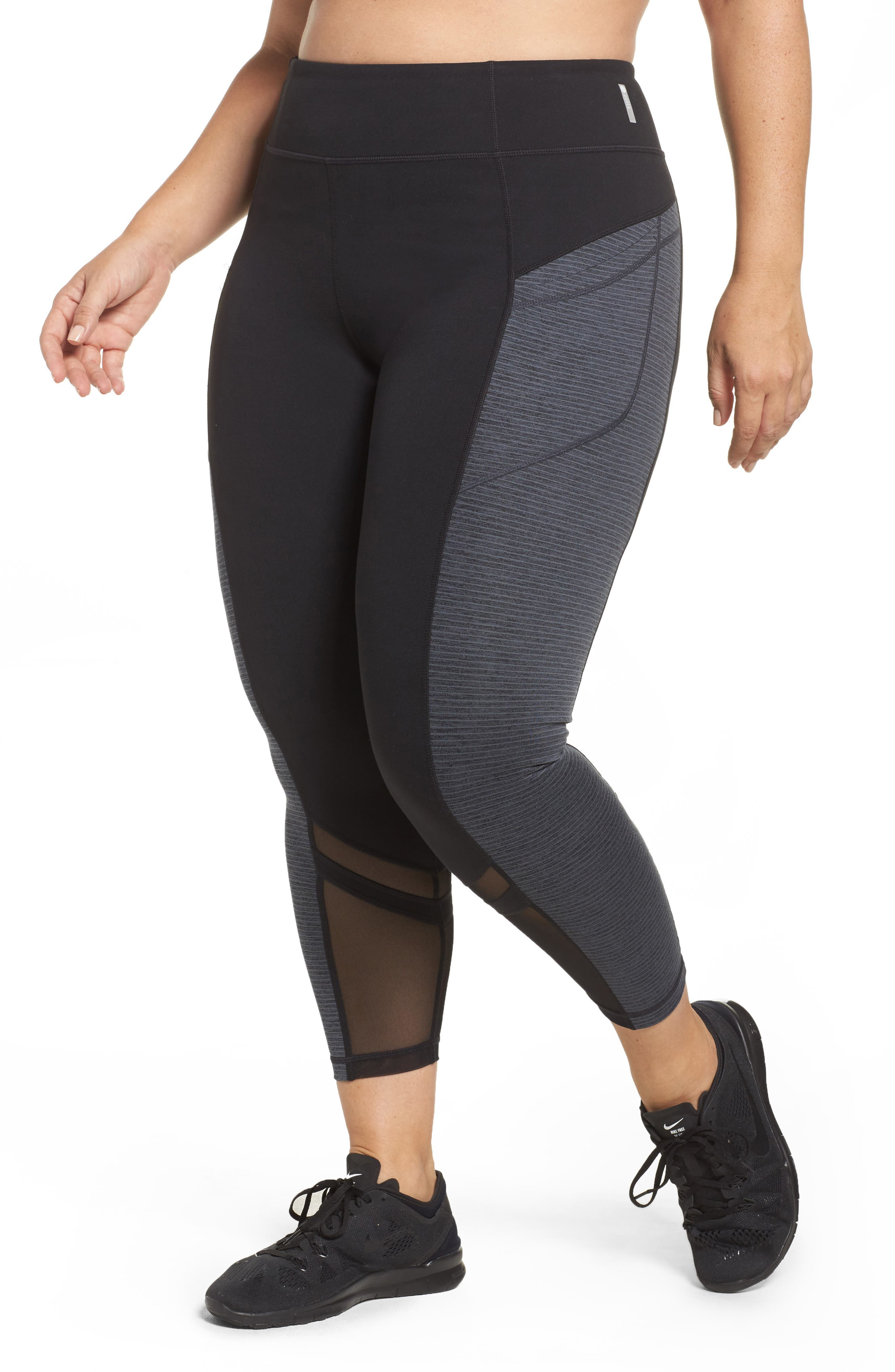 Zella Mega Block Midi Leggings (Plus Size)