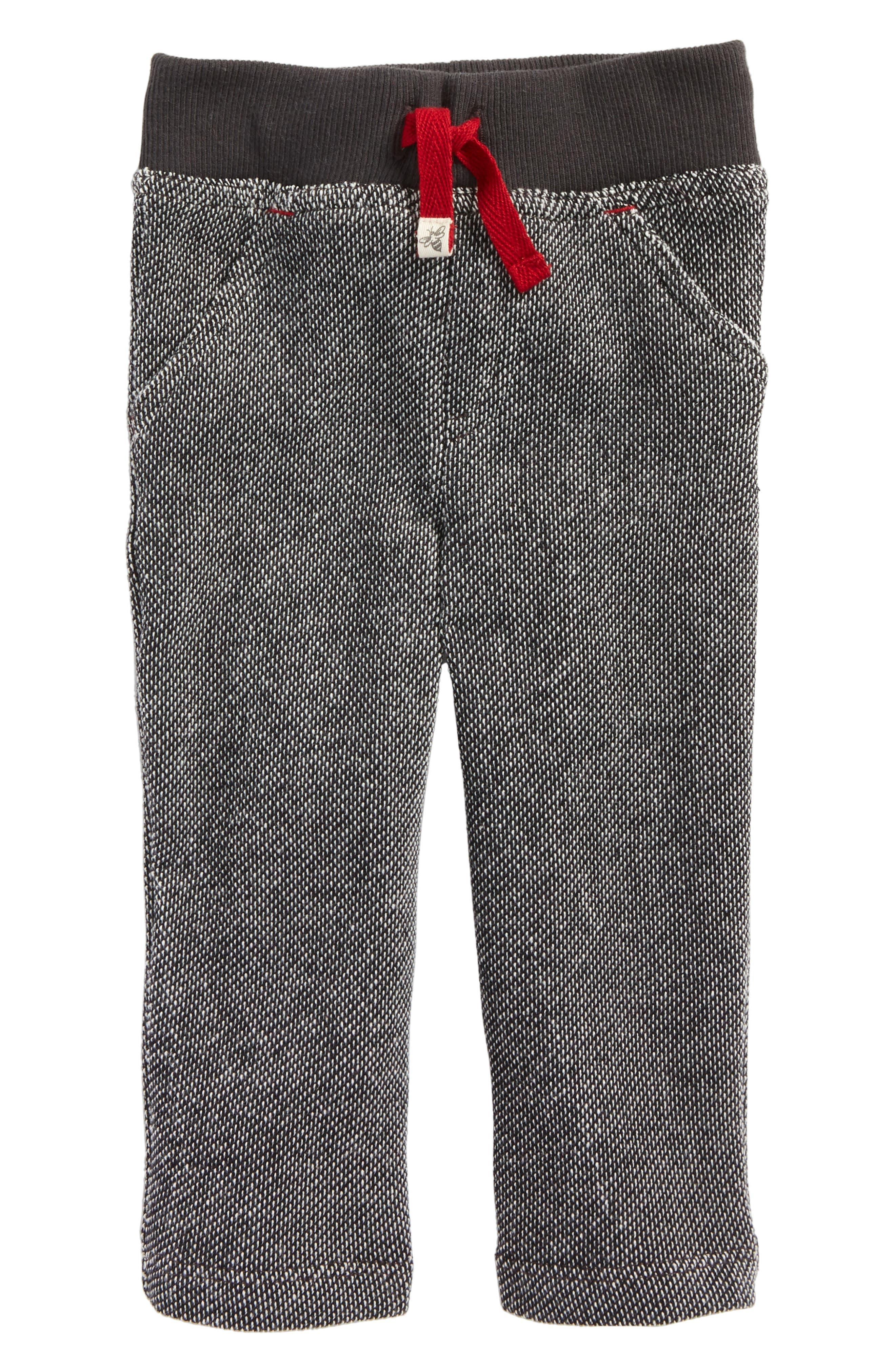 Main Image - Burt's Bees Baby Piqué Organic Cotton Pants (Baby Boys)