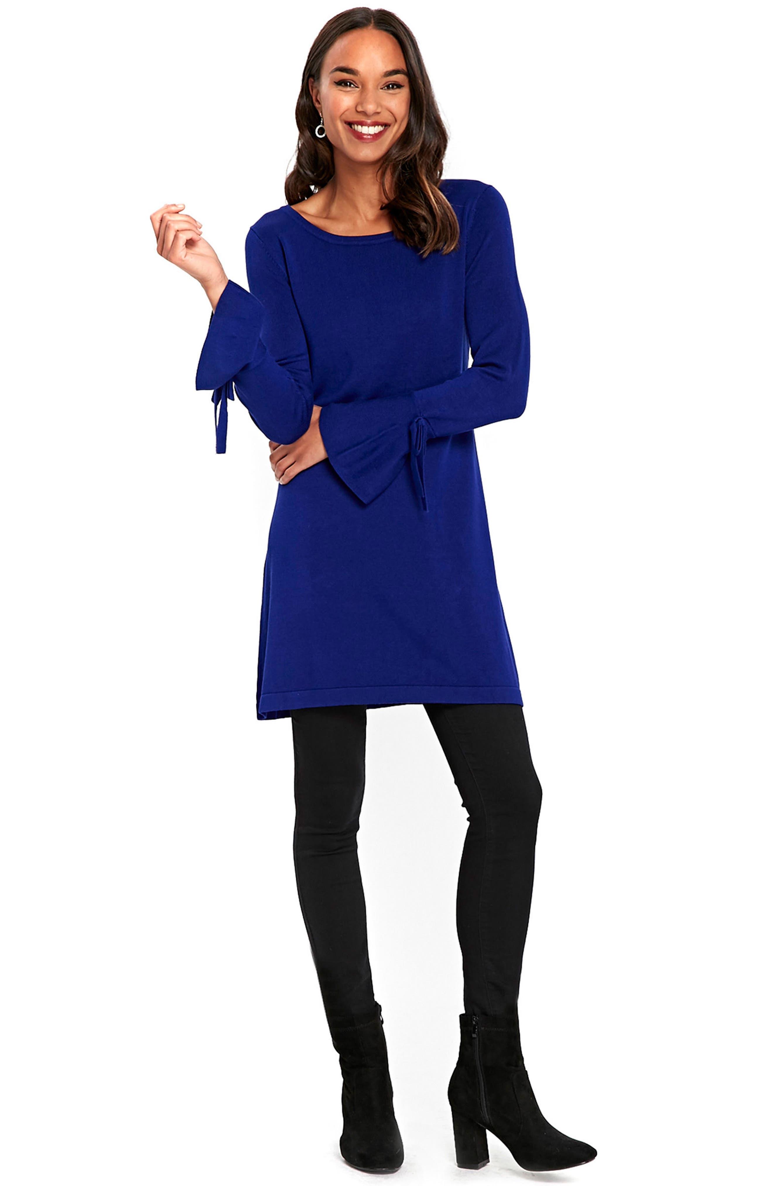 Alternate Image 2  - Wallis Knitted Bow Sleeve Shift Dress