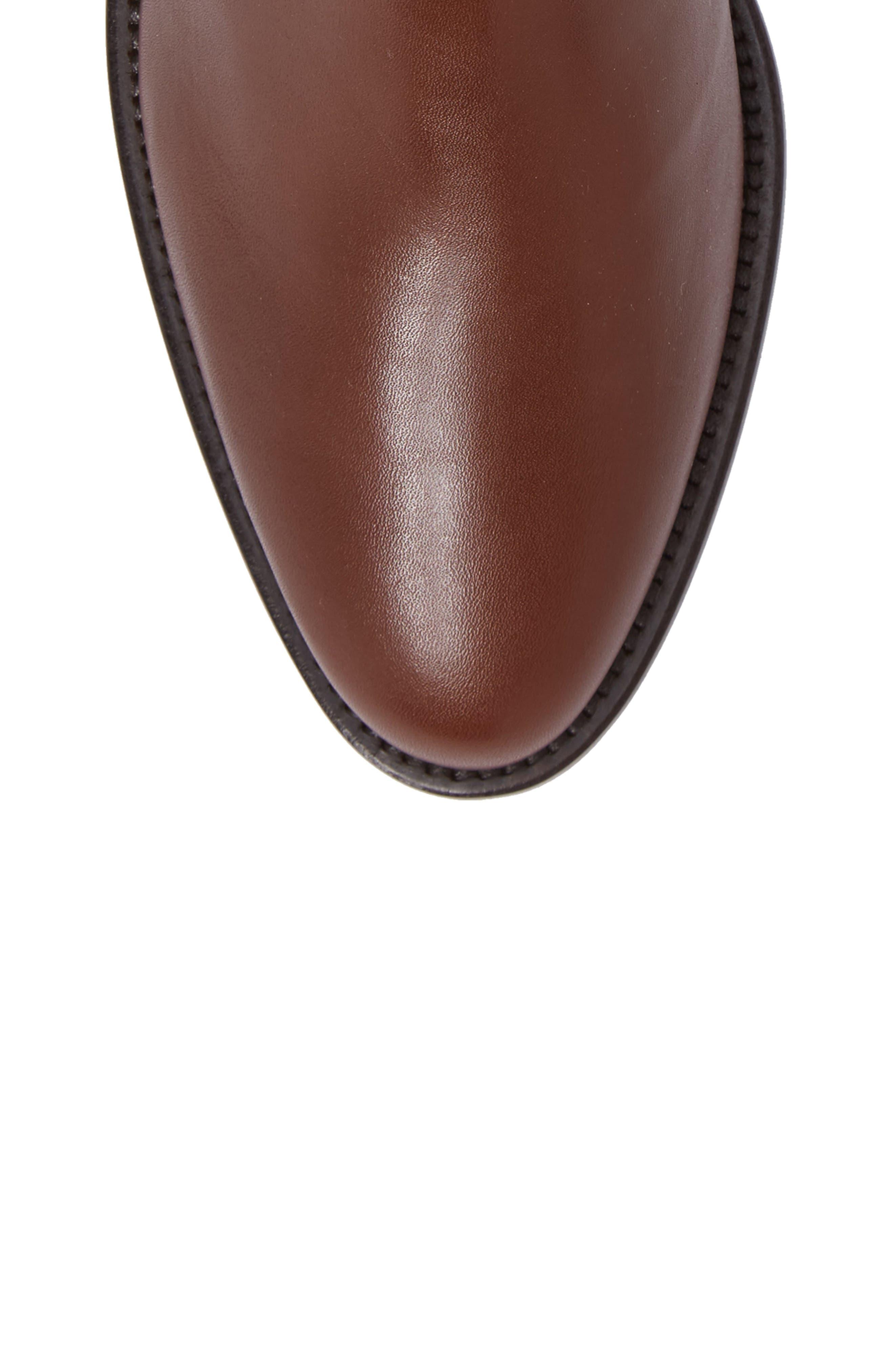 Nicolette Weatherproof Knee High Boot,                             Alternate thumbnail 5, color,                             Castagno Calf/ Elastic