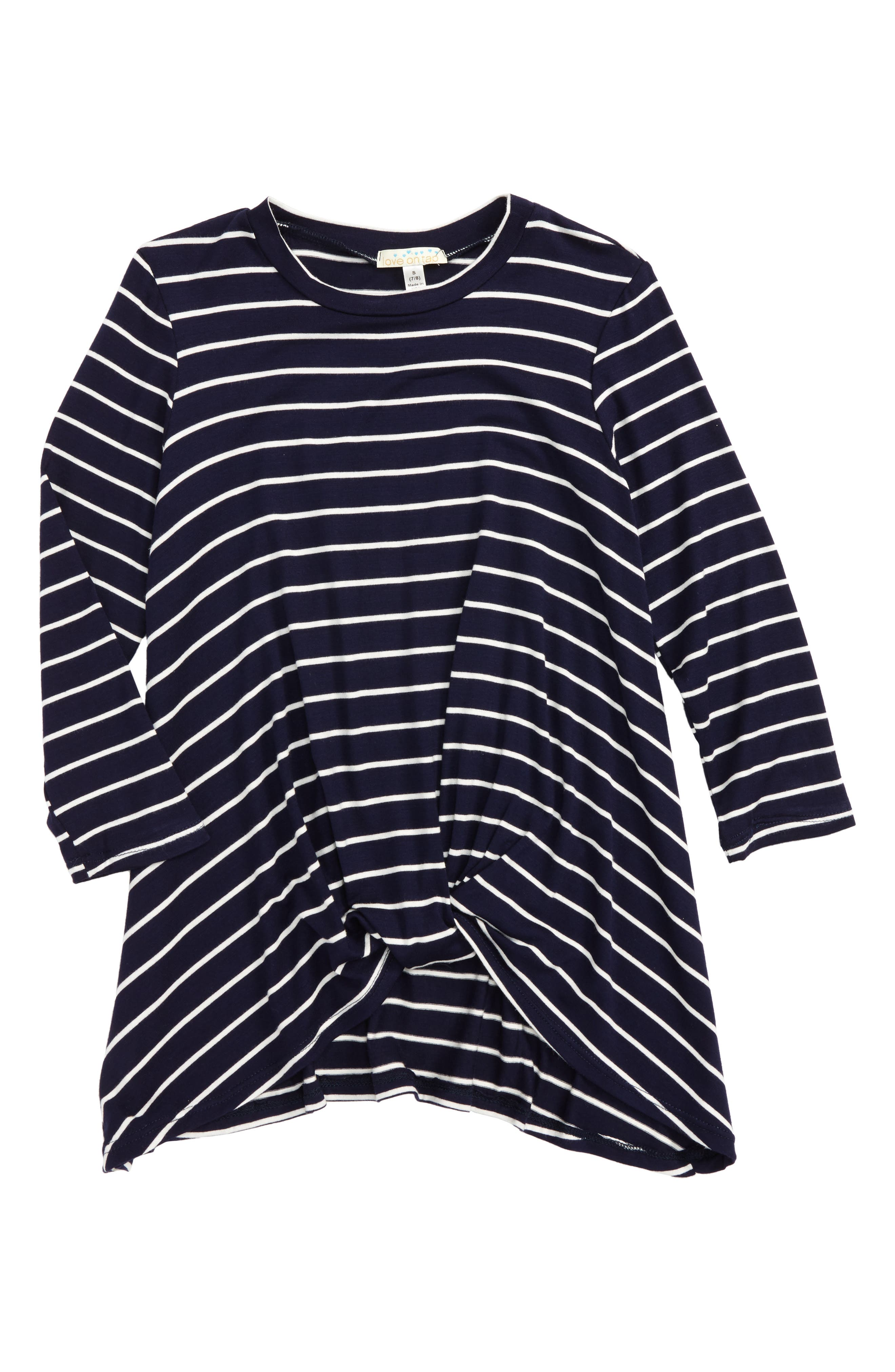 Love on Tap Stripe Tee (Big Girls)