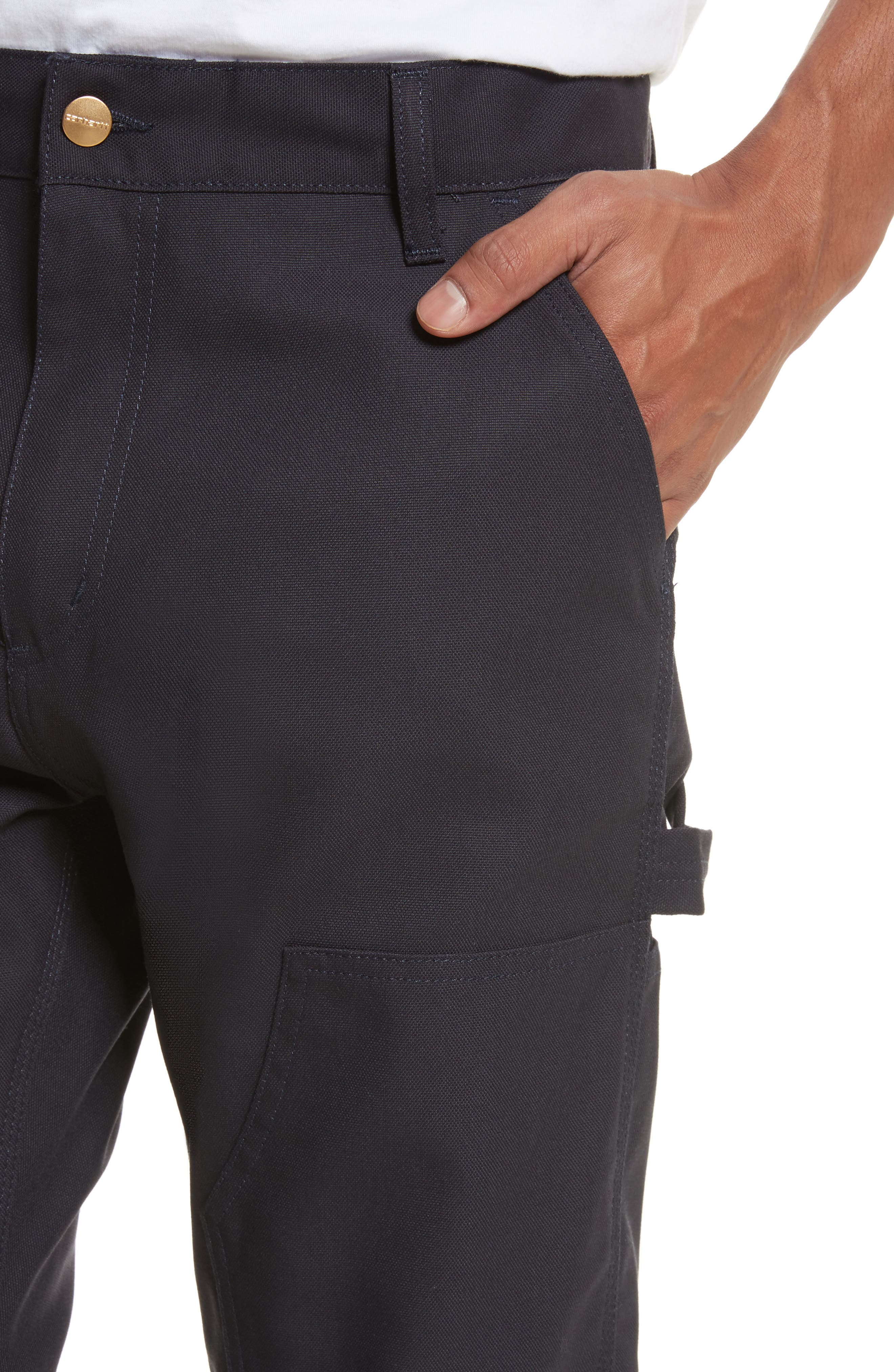 Ruck Double Knee Canvas Pants,                             Alternate thumbnail 4, color,                             Dark Navy